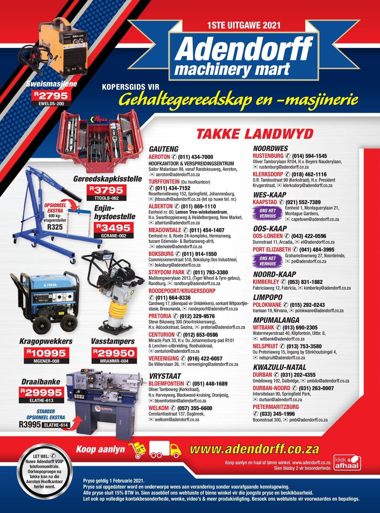 Adendorff Machinery Mart Catalogue - 2021/02/01-2021/02/07
