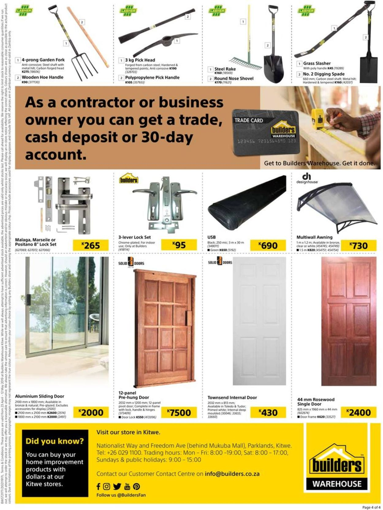 Builders Warehouse Catalogue - 2019/04/23-2019/05/12 (Page 4)