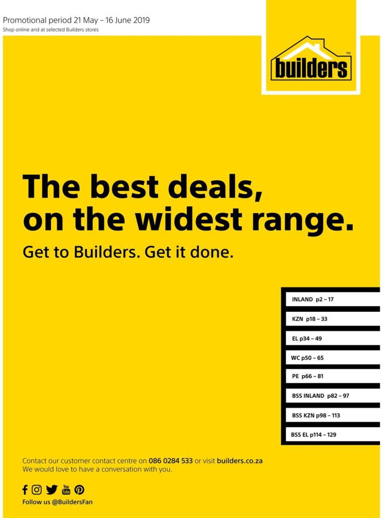 Builders Warehouse Catalogue - 2019/05/21-2019/06/16