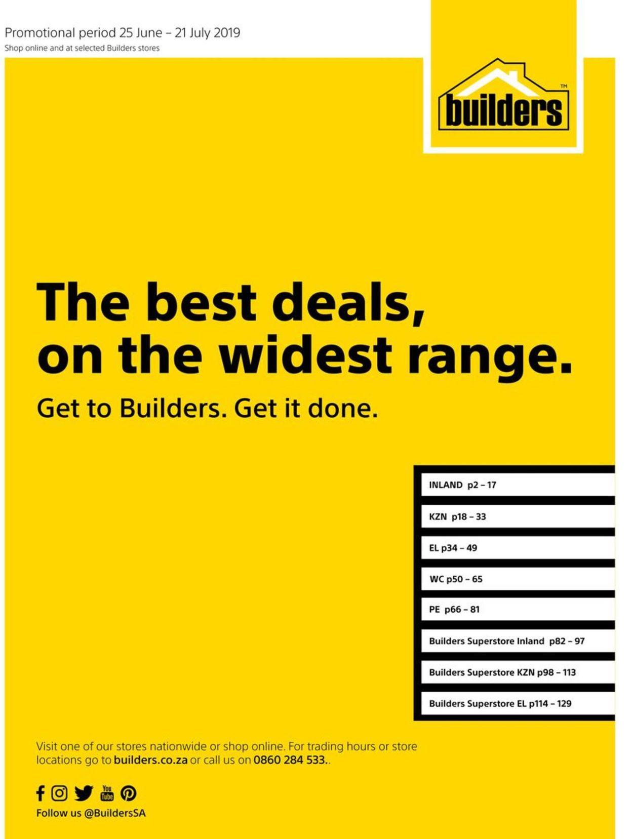 Builders Warehouse Catalogue - 2019/06/25-2019/07/21