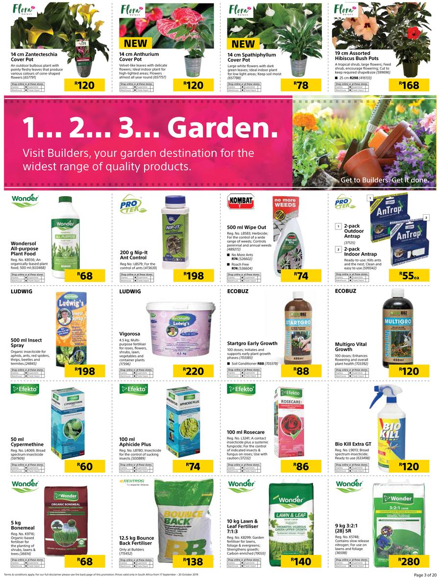 Builders Warehouse Catalogue - 2019/09/17-2019/10/20 (Page 3)