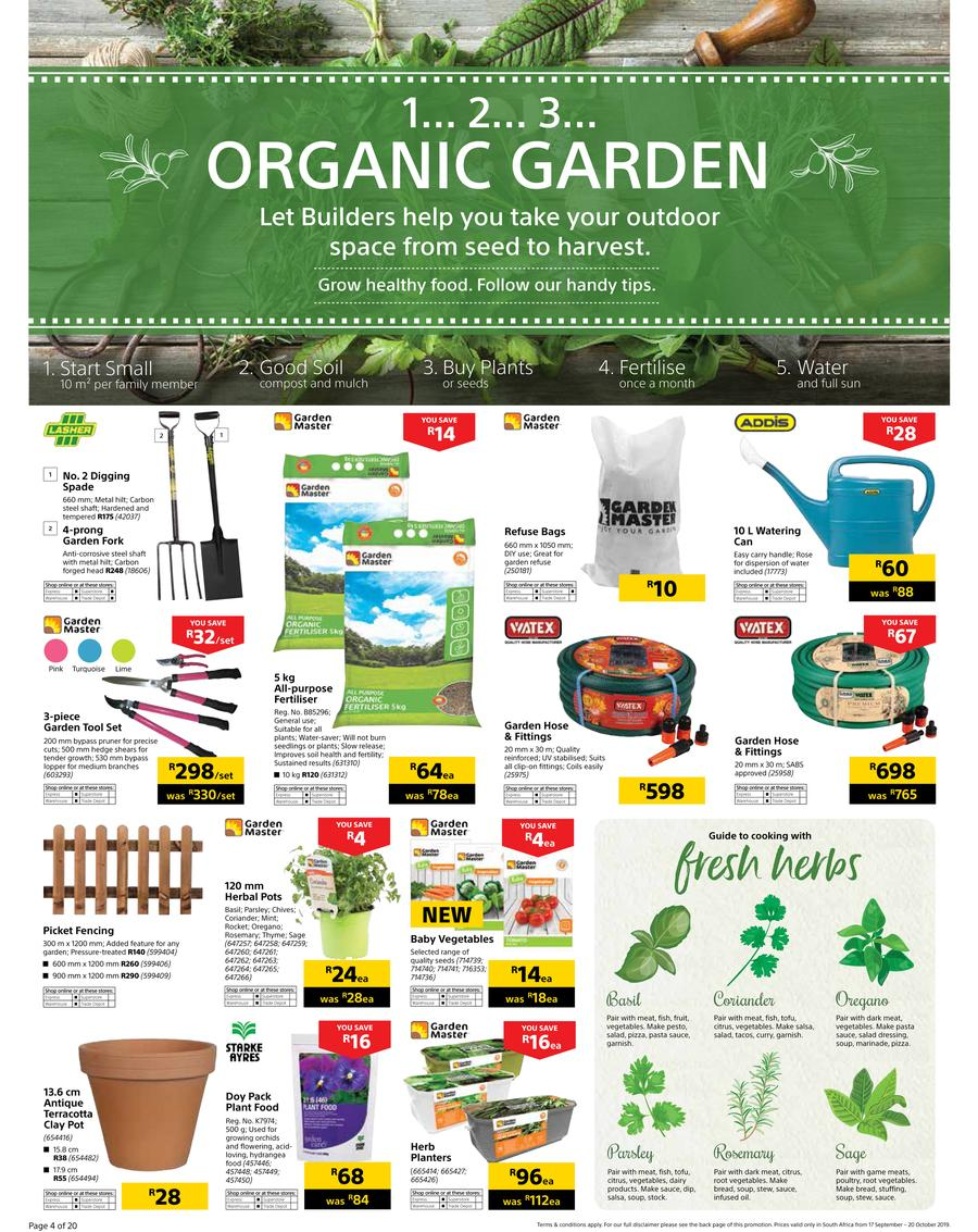 Builders Warehouse Catalogue - 2019/09/17-2019/10/20 (Page 4)