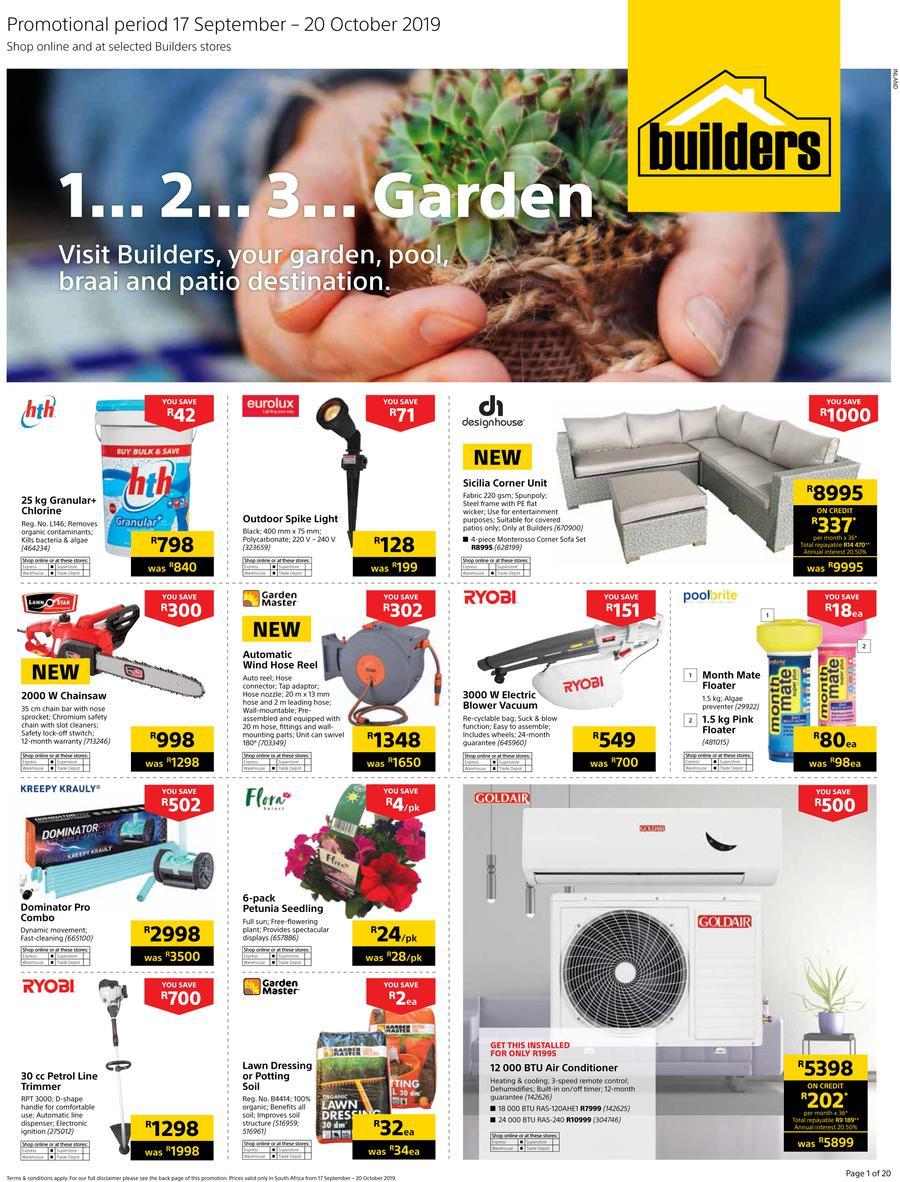Builders Warehouse Catalogue - 2019/09/17-2019/10/20
