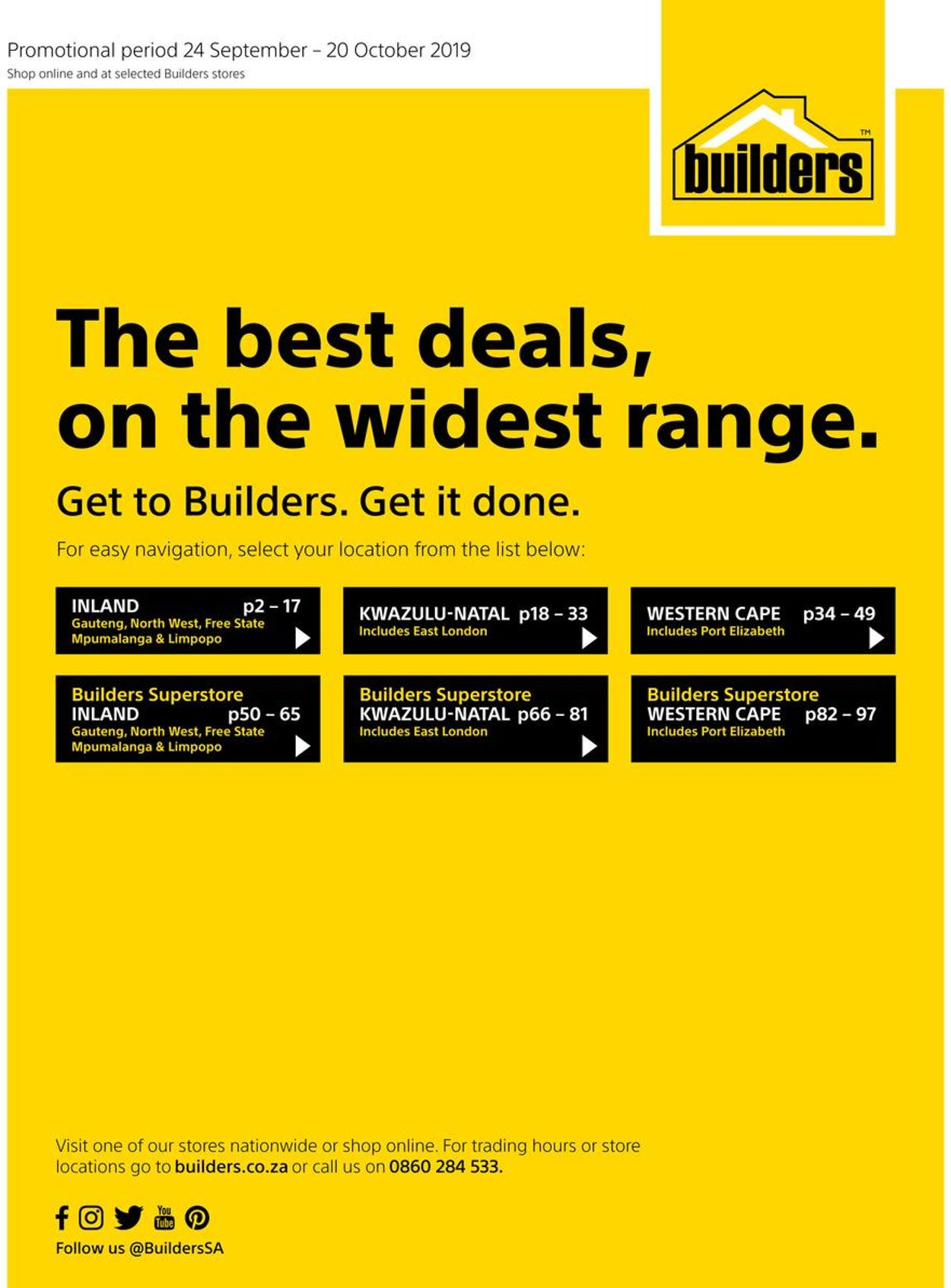 Builders Warehouse Catalogue - 2019/09/24-2019/10/20