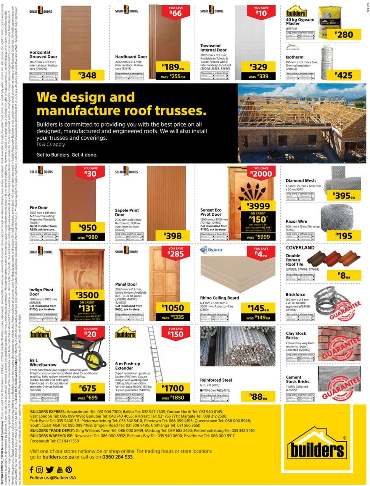 Builders Warehouse Catalogue - 2020/02/25-2020/03/22 (Page 33)