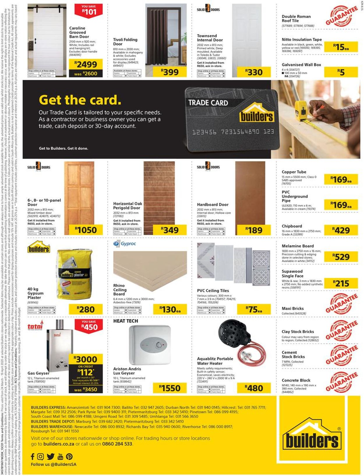 Builders Warehouse Catalogue - 2020/03/24-2020/04/19 (Page 17)