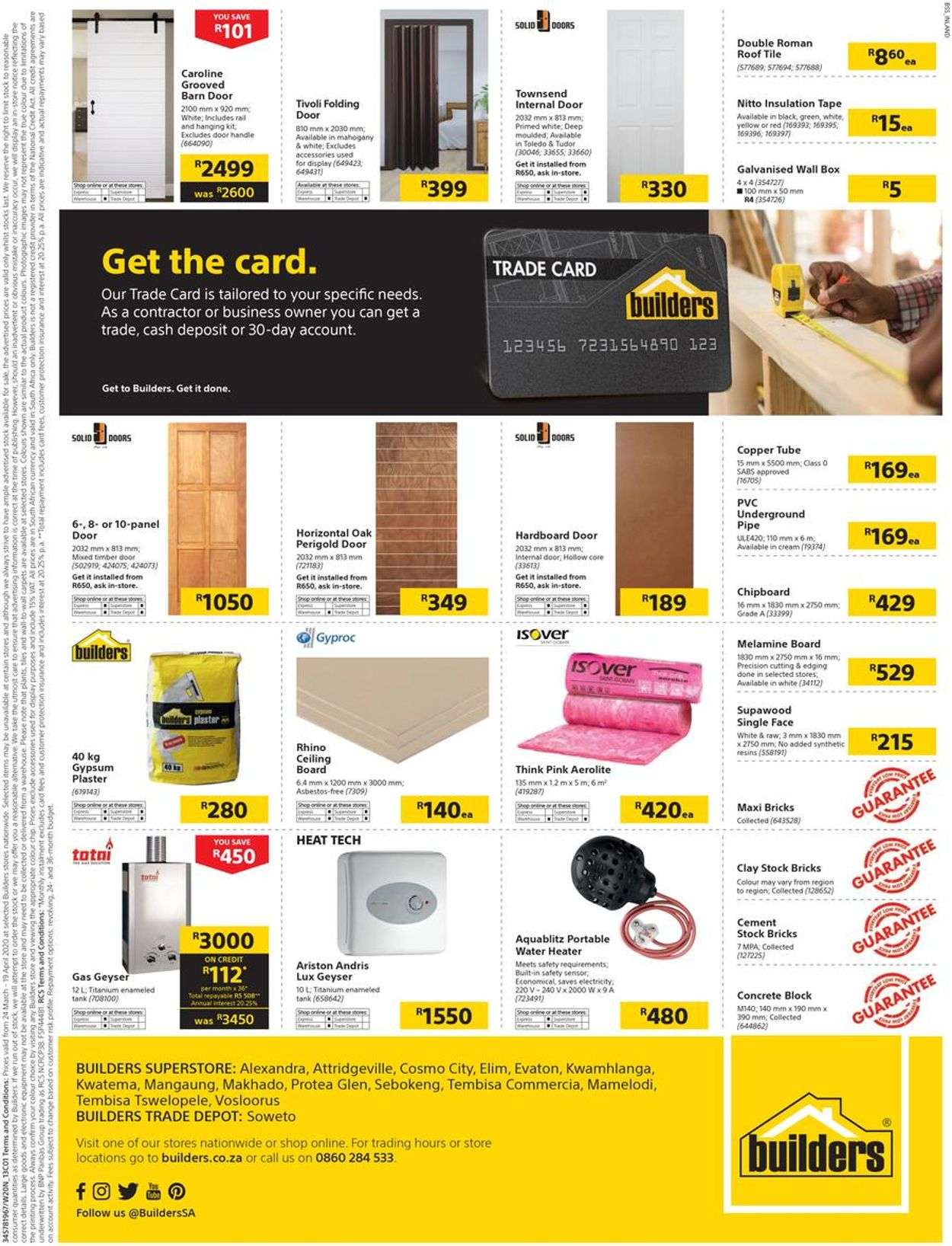 Builders Warehouse Catalogue - 2020/03/24-2020/04/19 (Page 33)