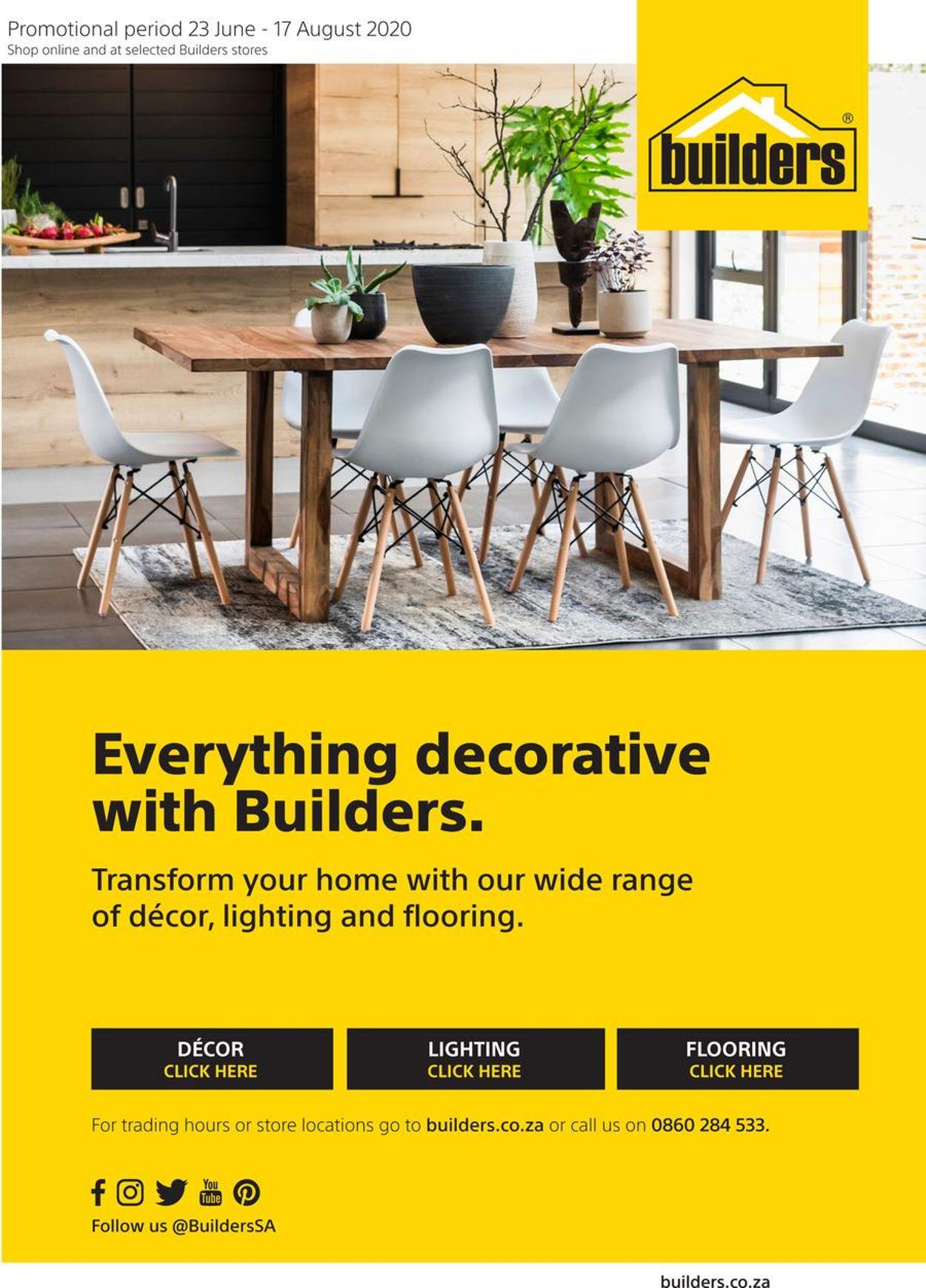 Builders Warehouse Catalogue - 2020/06/23-2020/08/17