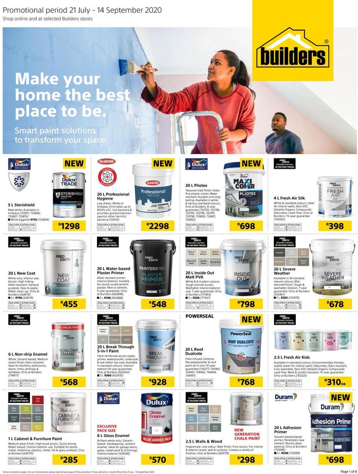 Builders Warehouse Catalogue - 2020/07/21-2020/09/14