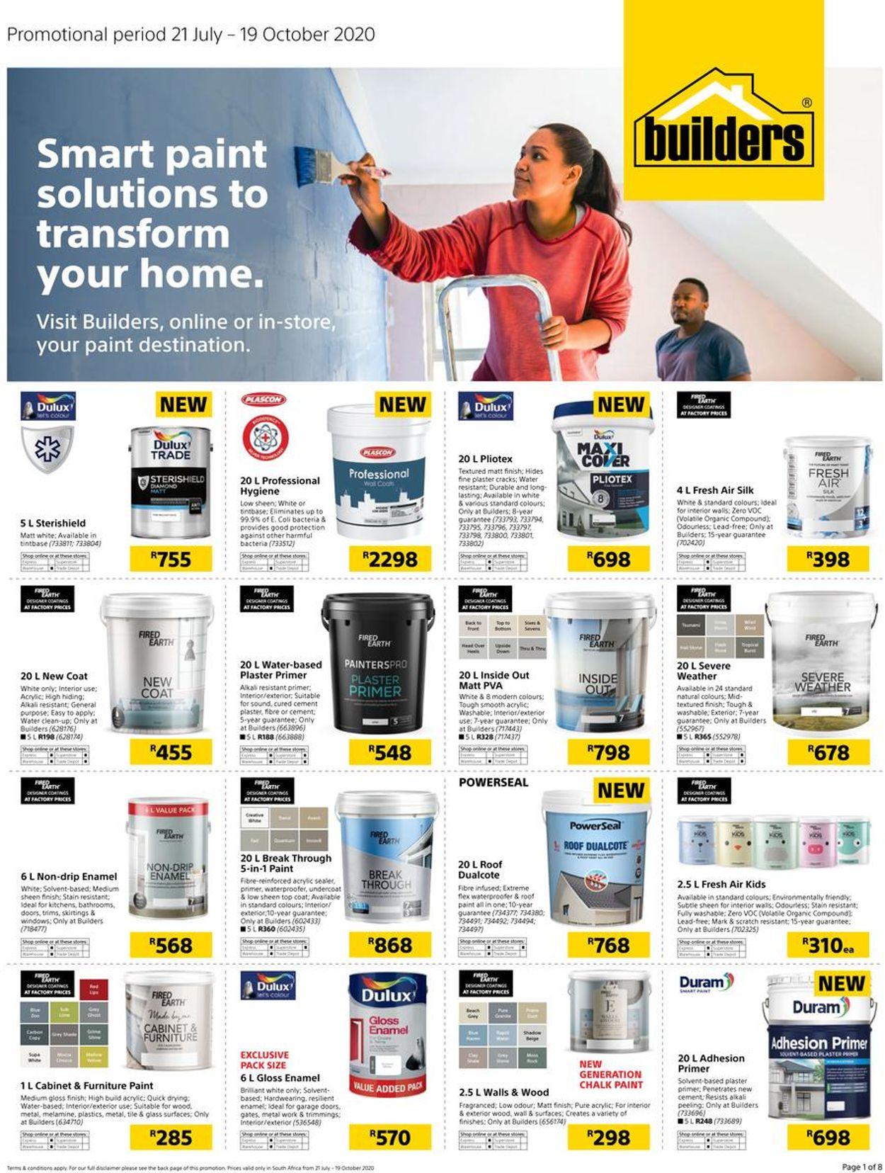 Builders Warehouse Catalogue - 2020/07/21-2020/10/19