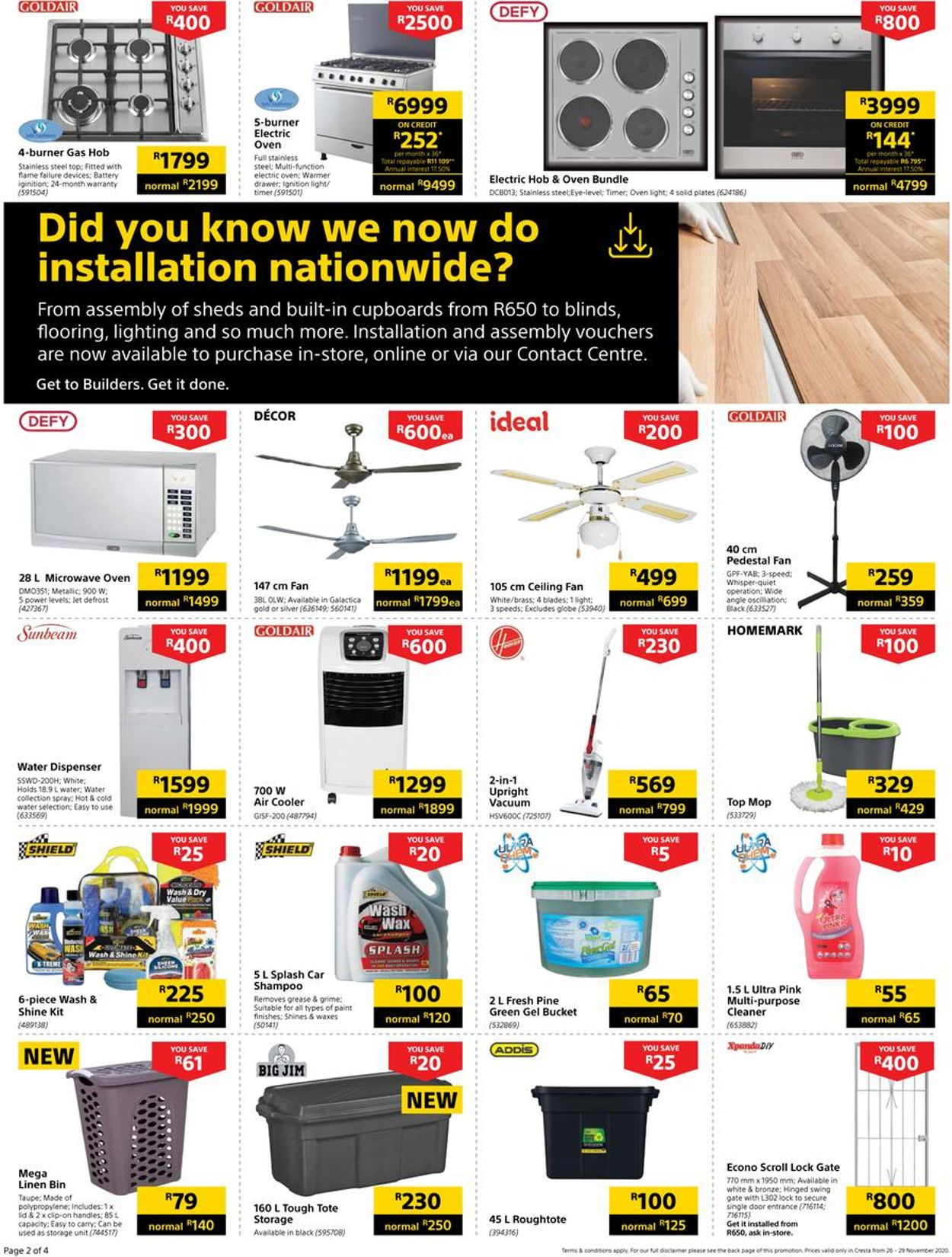 Builders Warehouse Black Friday 2020 Catalogue - 2020/11/26-2020/11/29 (Page 2)