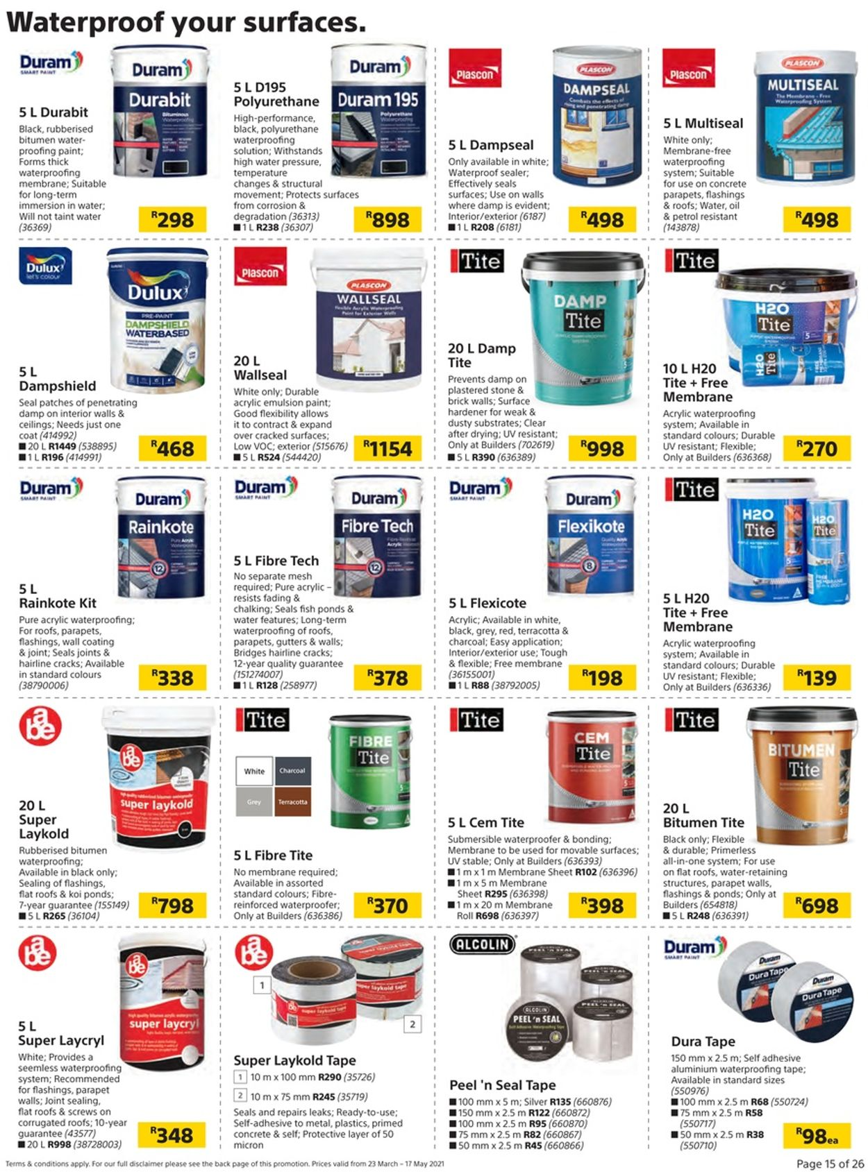 Builders Warehouse Catalogue - 2021/03/23-2021/05/17 (Page 15)