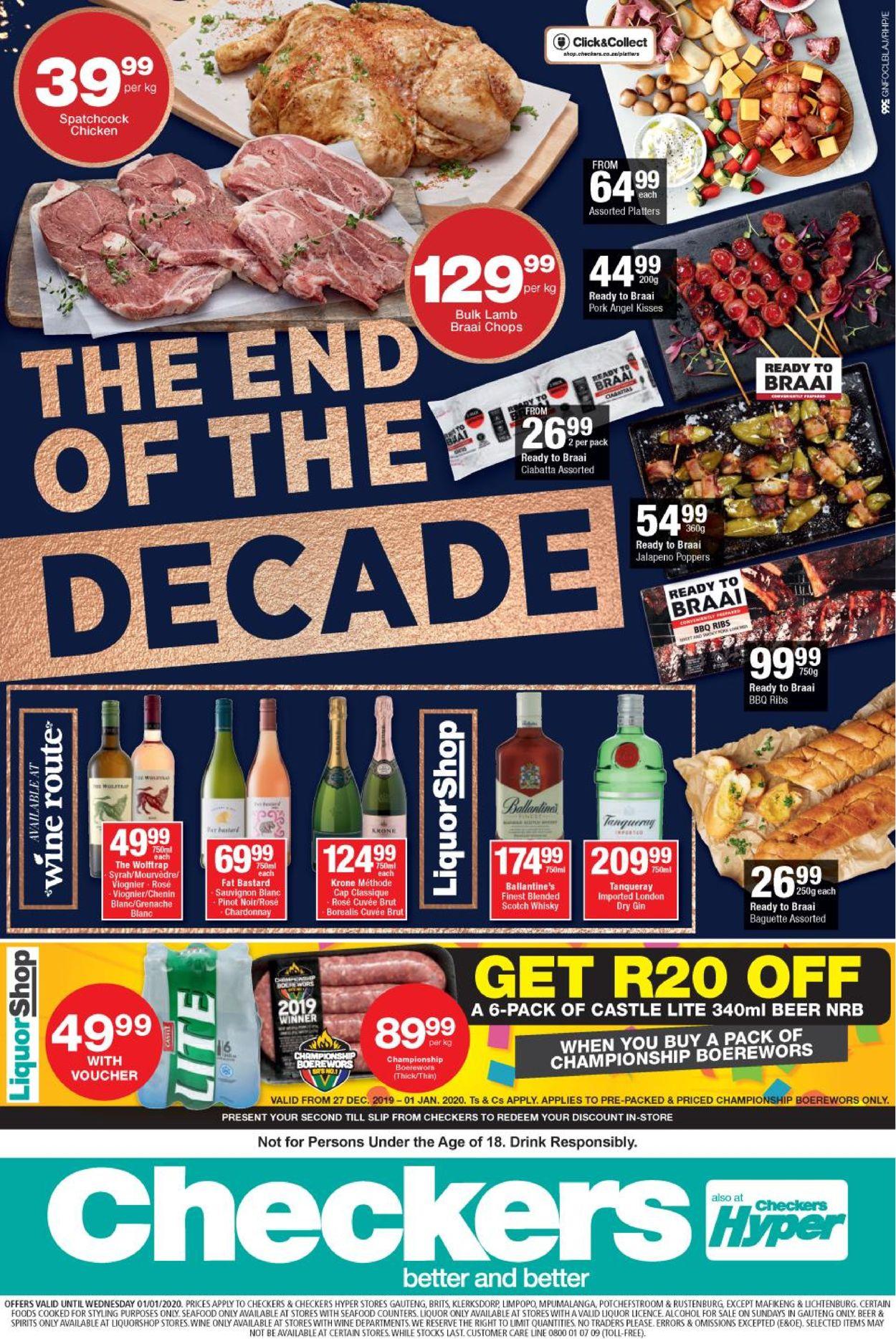 Checkers New Year Catalogue 19/20 Catalogue - 2019/12/27-2020/01/01 (Page 2)