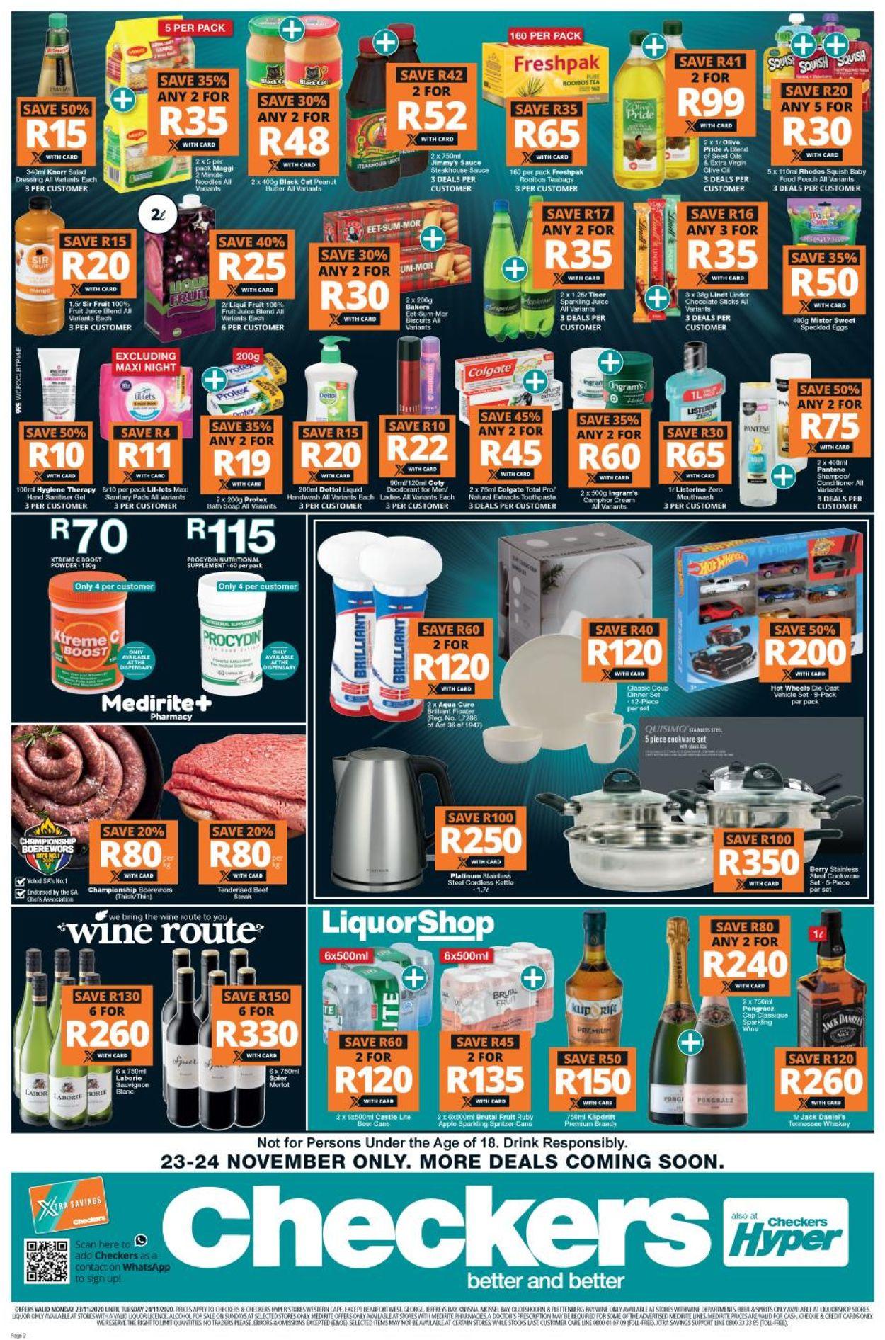 Checkers catalogue Black Friday 2020 Catalogue - 2020/11/23-2020/11/24 (Page 2)