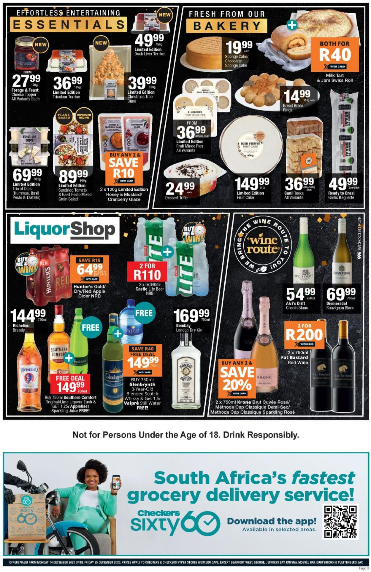 Checkers Extra Merry Christmas 2020 Catalogue - 2020/12/14-2020/12/25 (Page 3)