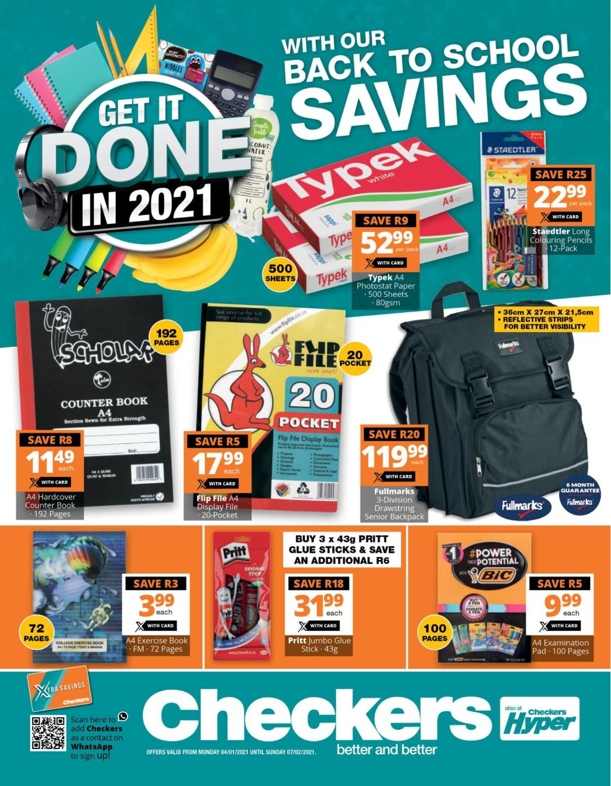 Checkers Back To School 2021 Catalogue - 2021/01/04-2021/02/07