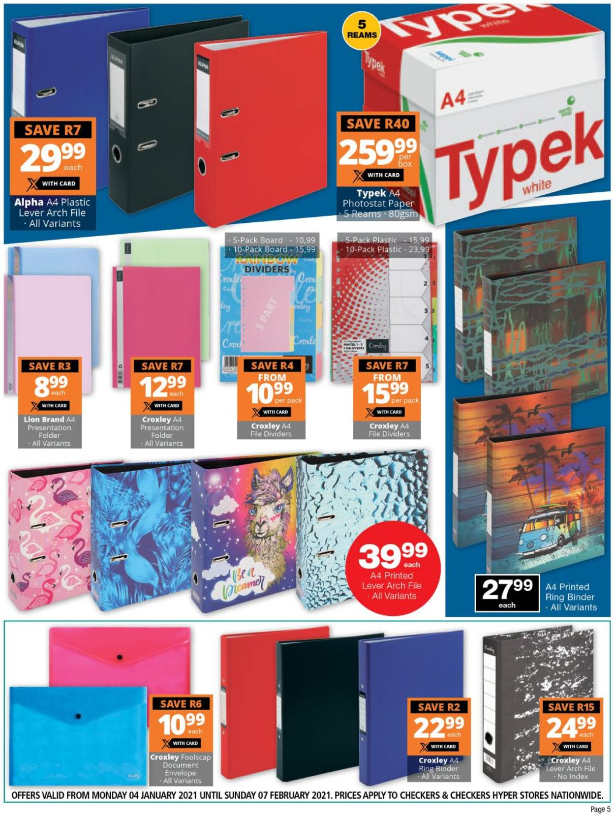 Checkers Back To School 2021 Catalogue - 2021/01/04-2021/02/07 (Page 5)