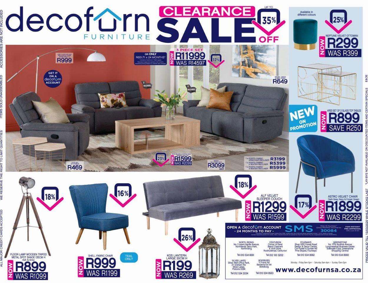 Decofurn Factory Shop Catalogue - 2020/03/09-2020/03/15