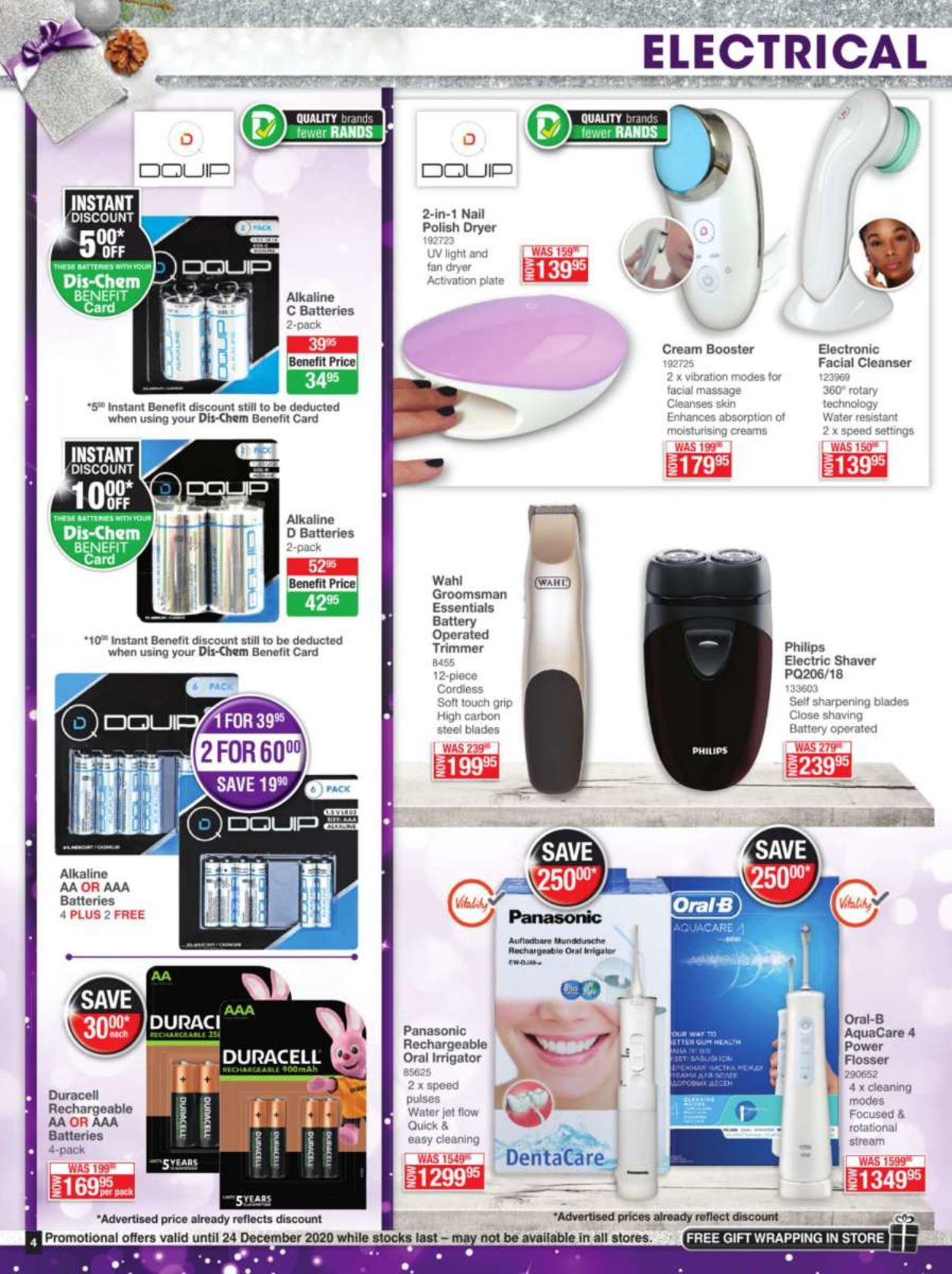 Dis-Chem Festive Savings 2020 Catalogue - 2020/12/04-2020/12/24 (Page 4)