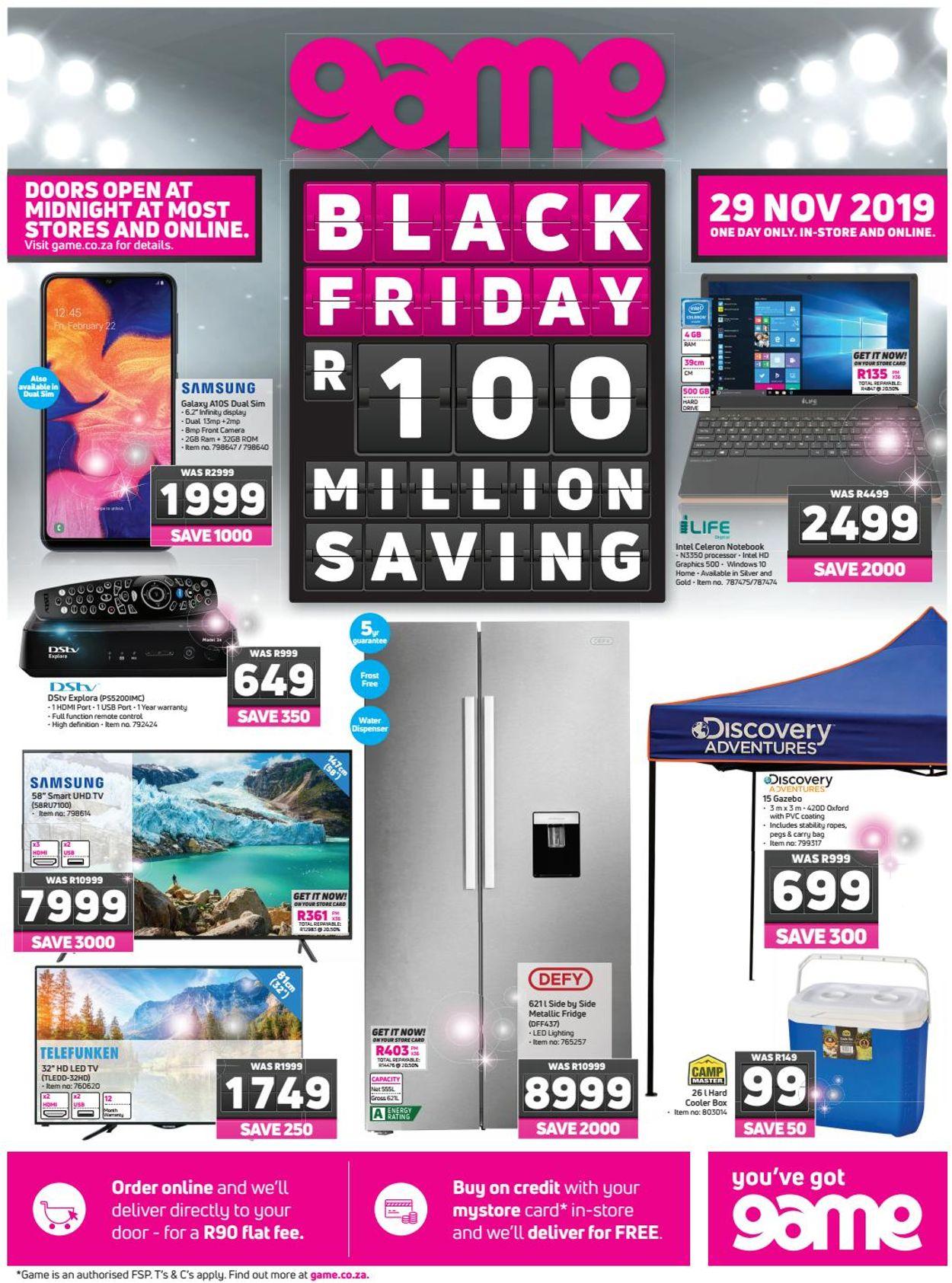 Game Black Friday 2019 Catalogue - 2019/11/29-2019/11/29