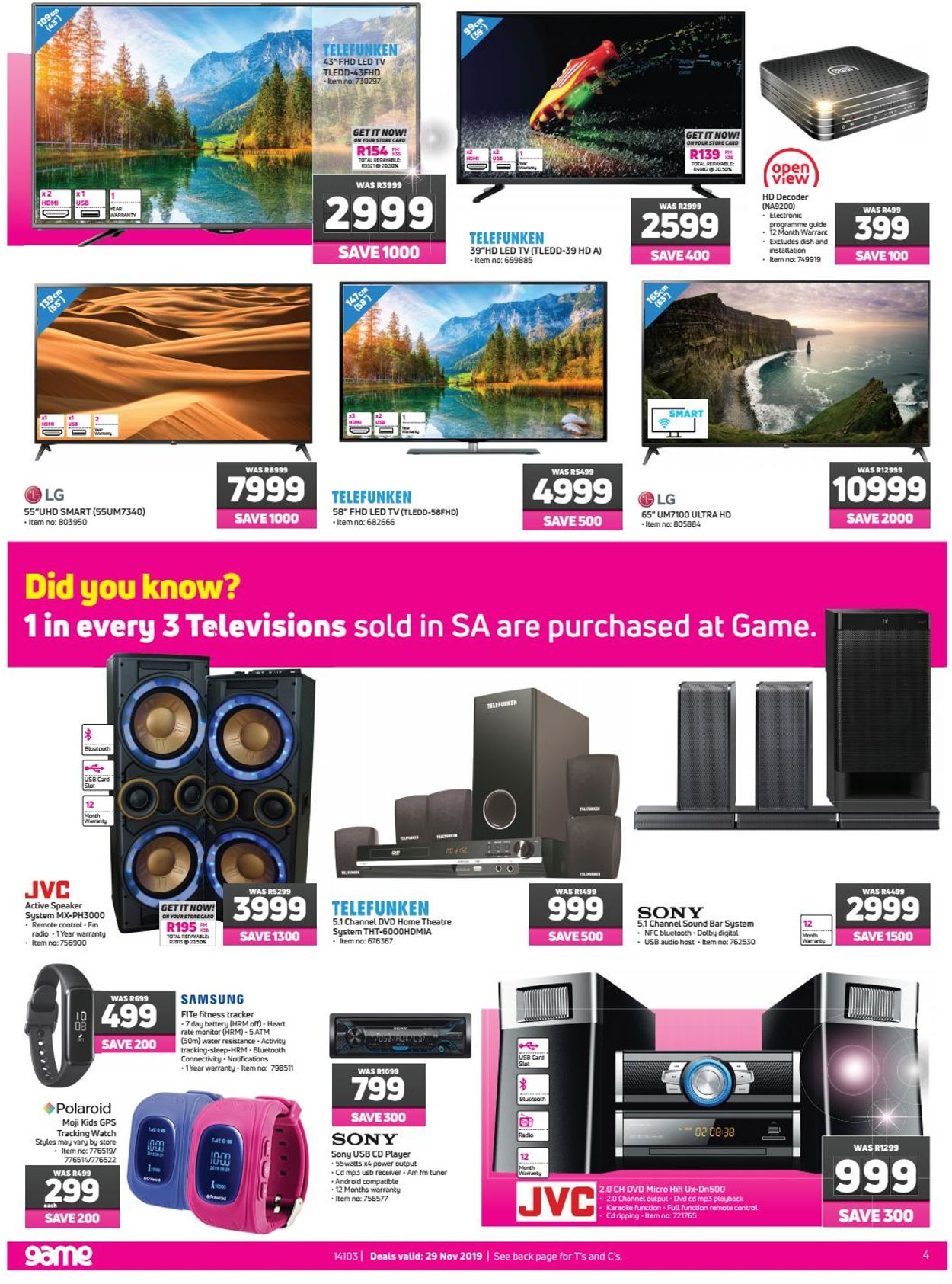 Game Black Friday 2019 Catalogue - 2019/11/29-2019/11/29 (Page 4)