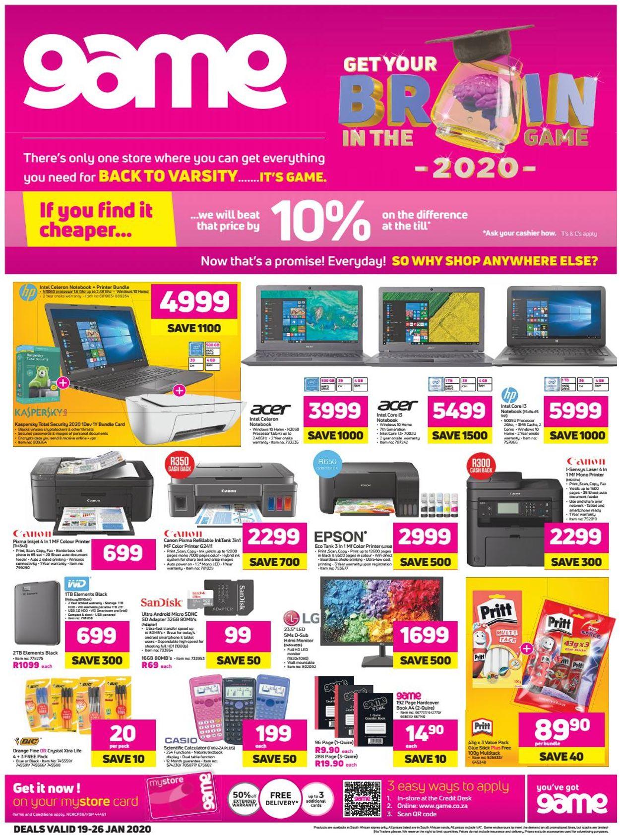 Game Catalogue - 2020/01/19-2020/01/26