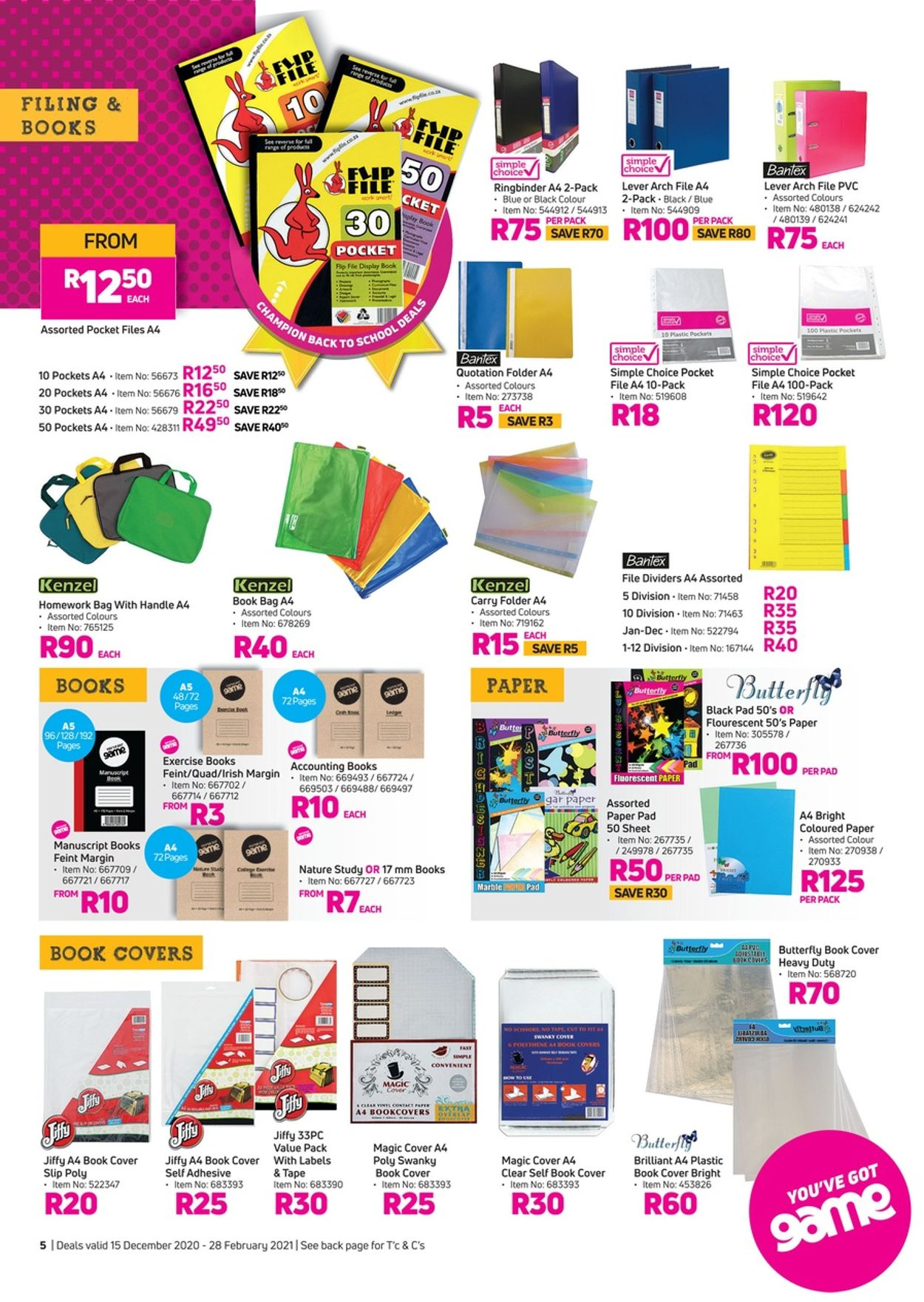 Game Back To School Catalogue - 2020/12/15-2021/02/28 (Page 5)