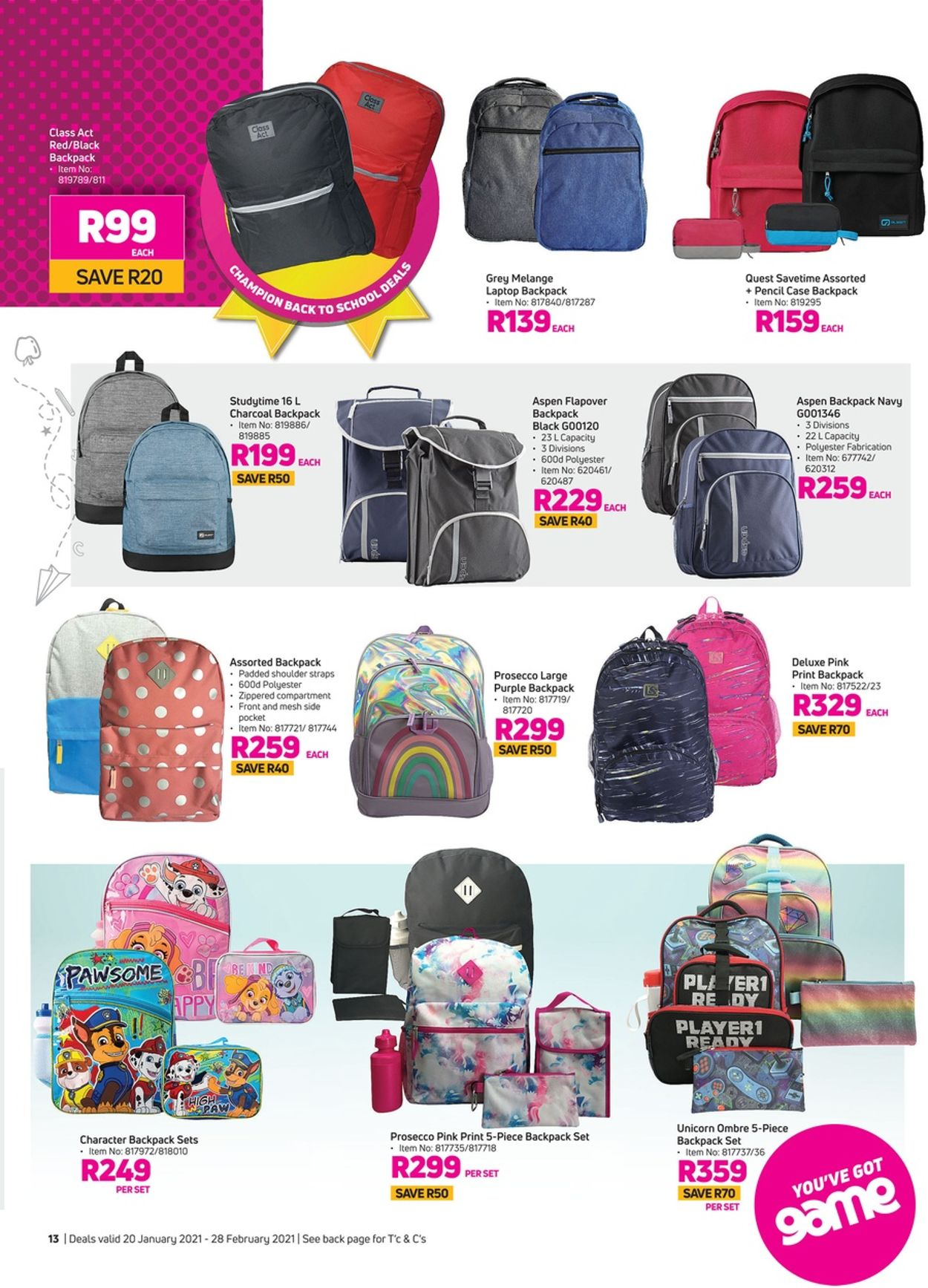Game Back To School 2021 Catalogue - 2021/01/20-2021/02/28 (Page 13)