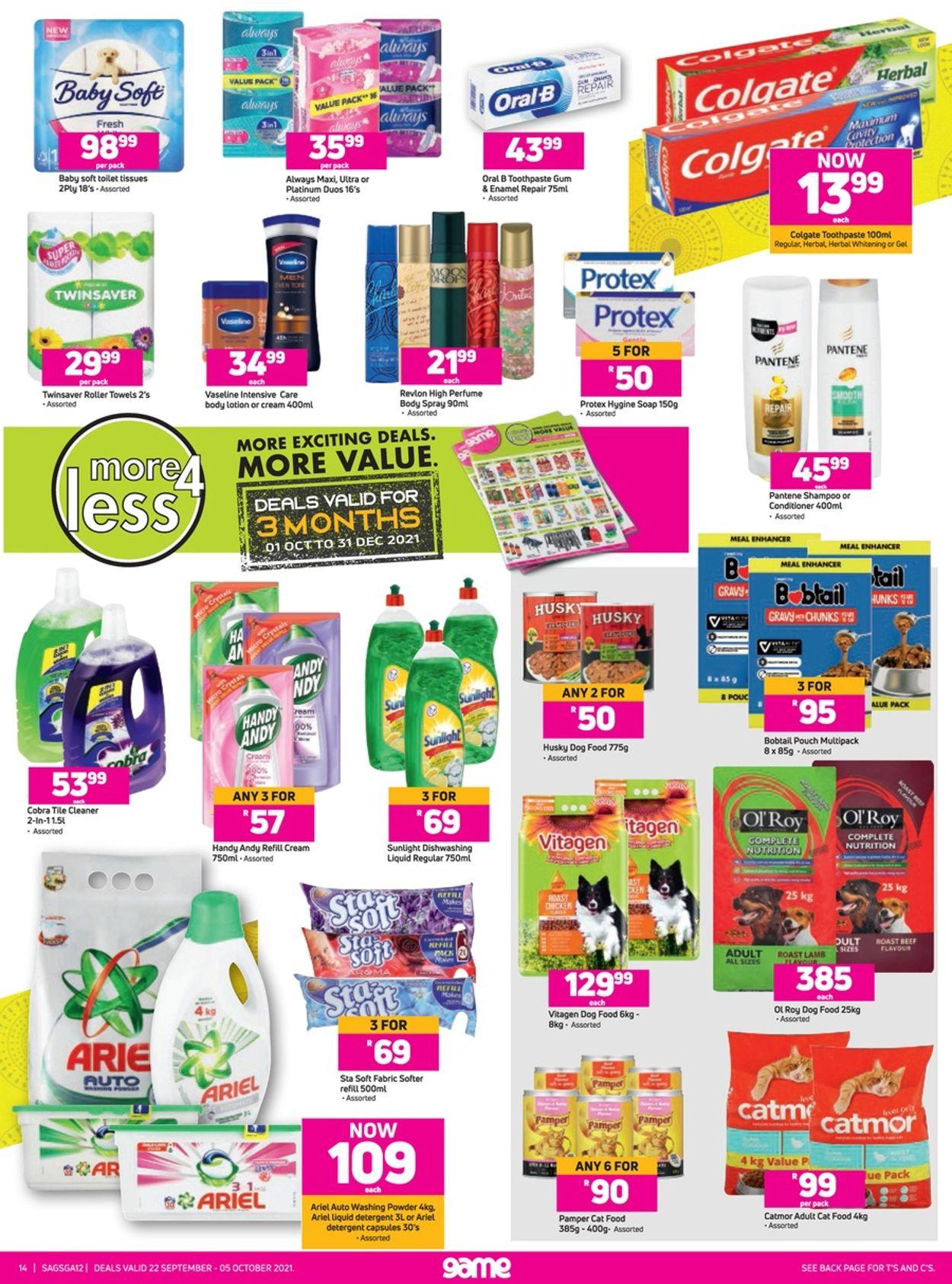 Game Catalogue - 2021/09/22-2021/10/05