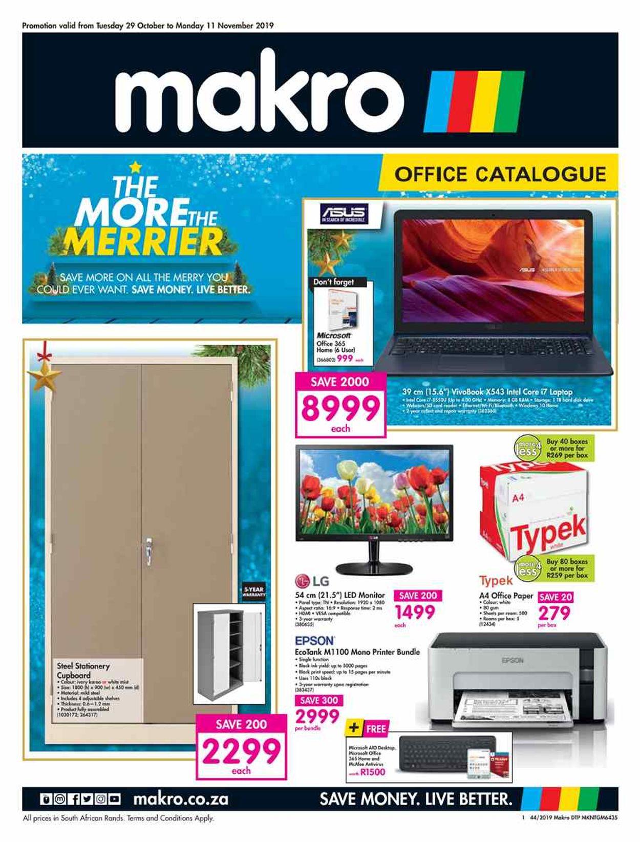 Makro Catalogue - 2019/10/29-2019/11/11