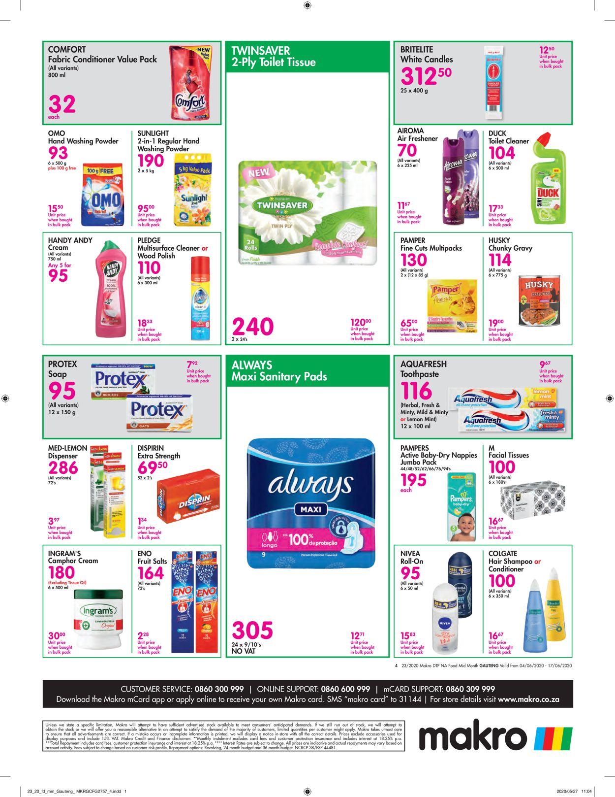 Makro Catalogue - 2020/06/04-2020/06/17 (Page 4)