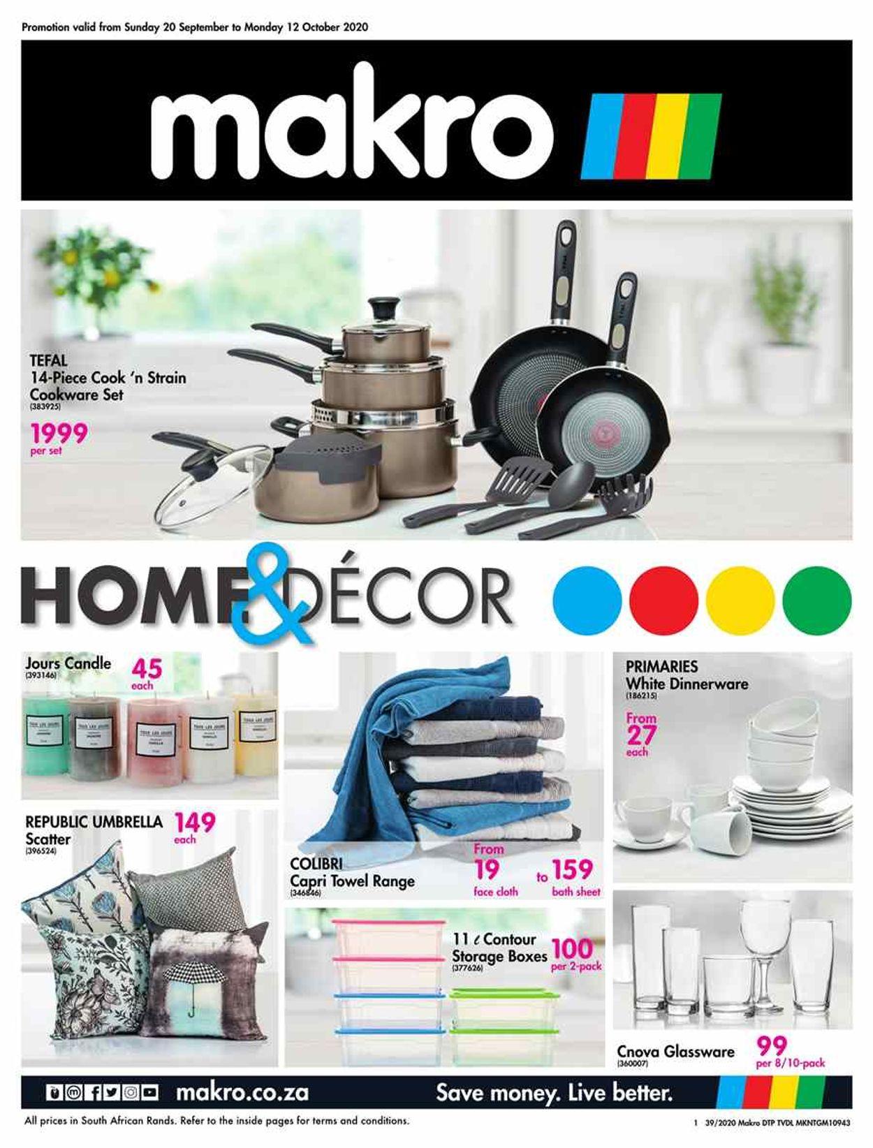 Makro Catalogue - 2020/09/20-2020/10/12