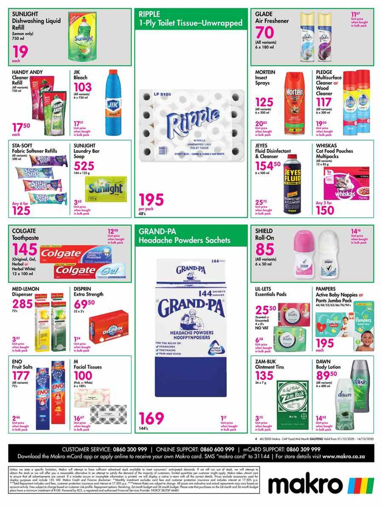 Makro Catalogue - 2020/10/01-2020/10/14 (Page 4)