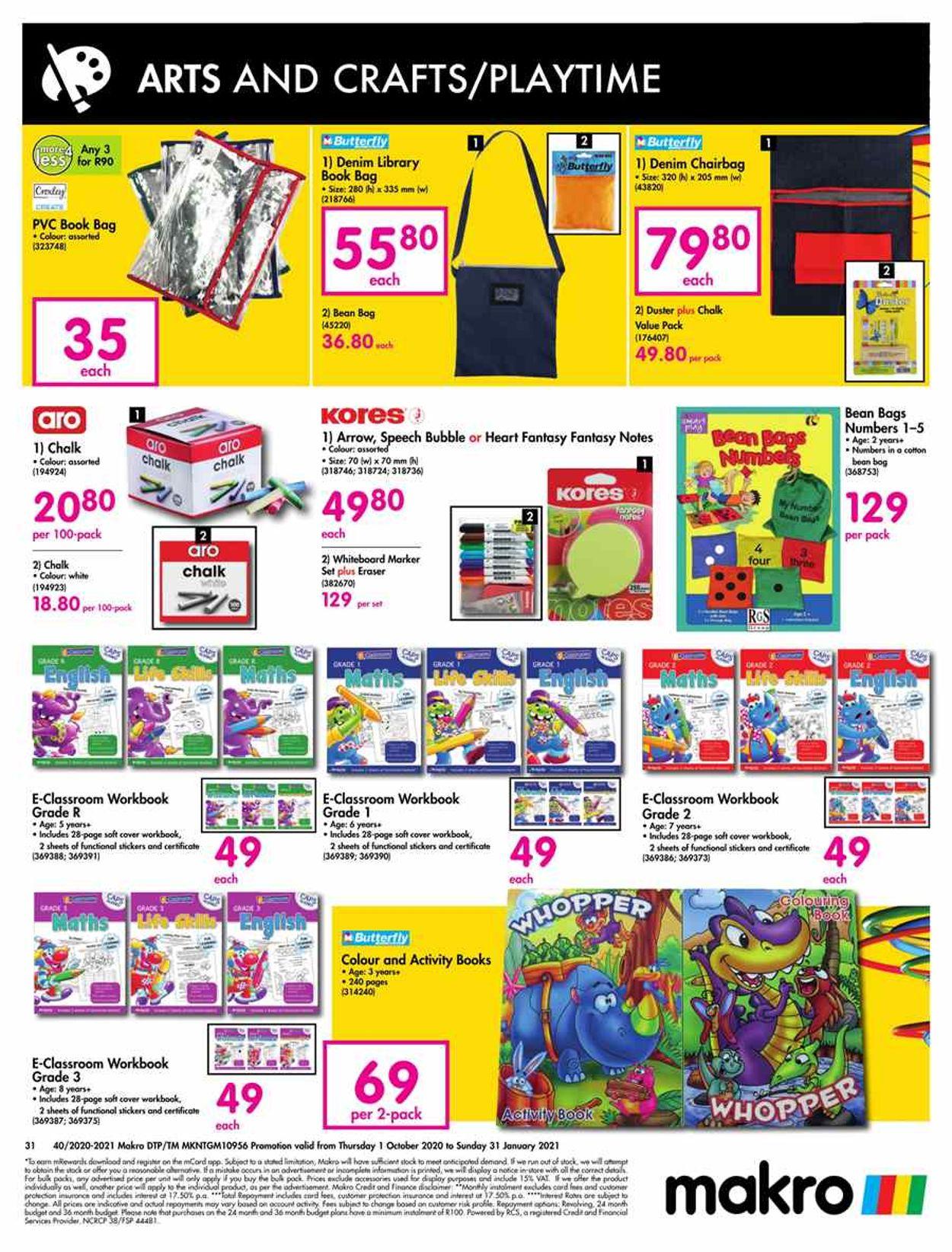 Makro Catalogue - 2020/10/01-2021/01/31 (Page 31)