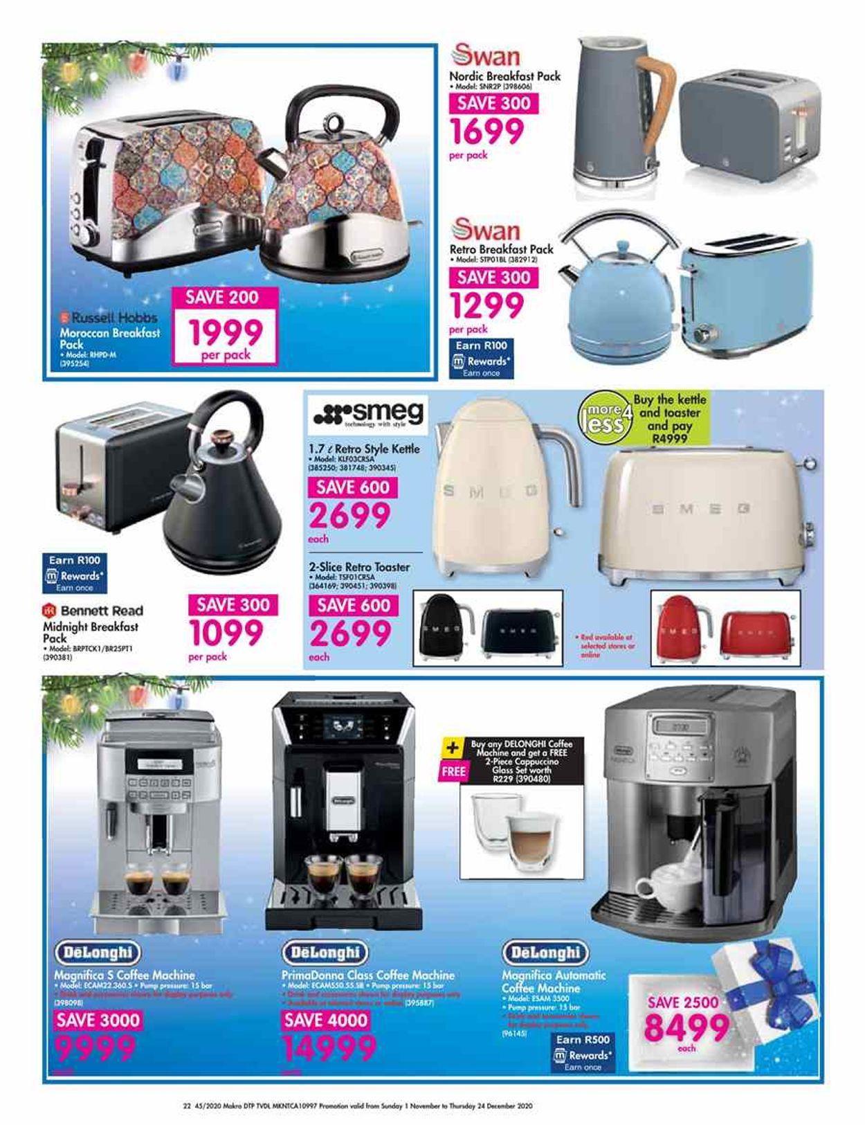 Makro Holidays 2020 Catalogue - 2020/11/01-2020/12/24 (Page 22)