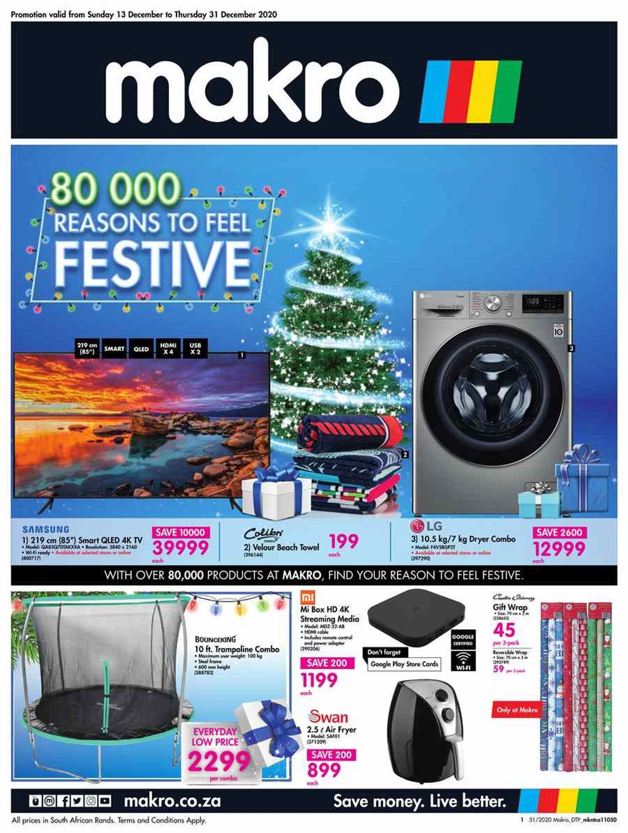 Makro Christmas Savings 2020 Catalogue - 2020/12/13-2020/12/31