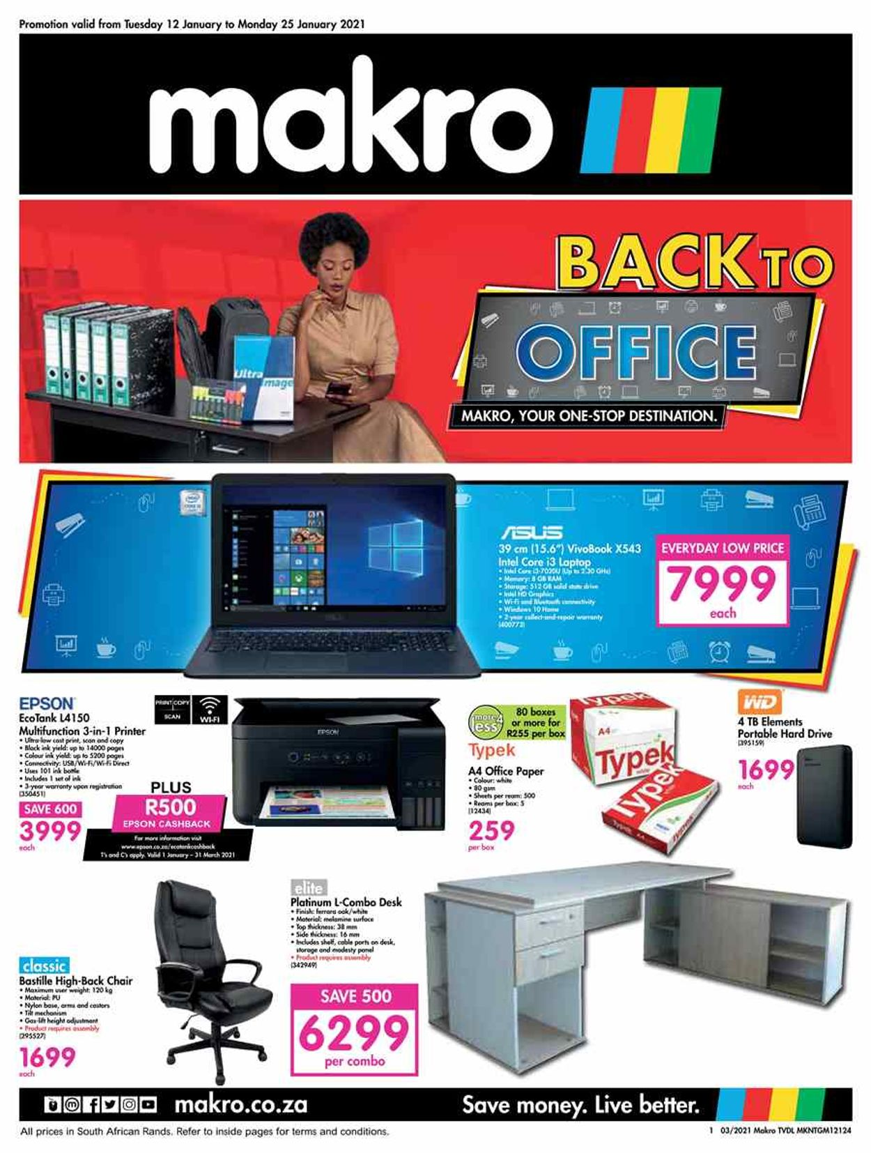 Makro Back to Office 2021 Catalogue - 2021/01/12-2021/01/25