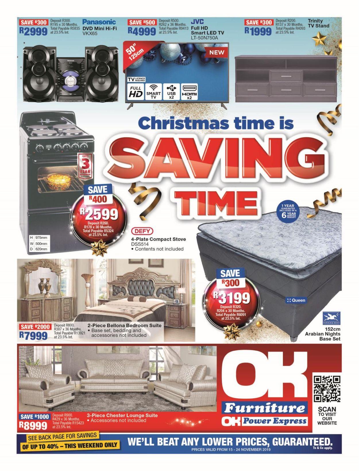 OK Furniture Christmas Catalogue 2019 Catalogue - 2019/11/15-2019/11/24