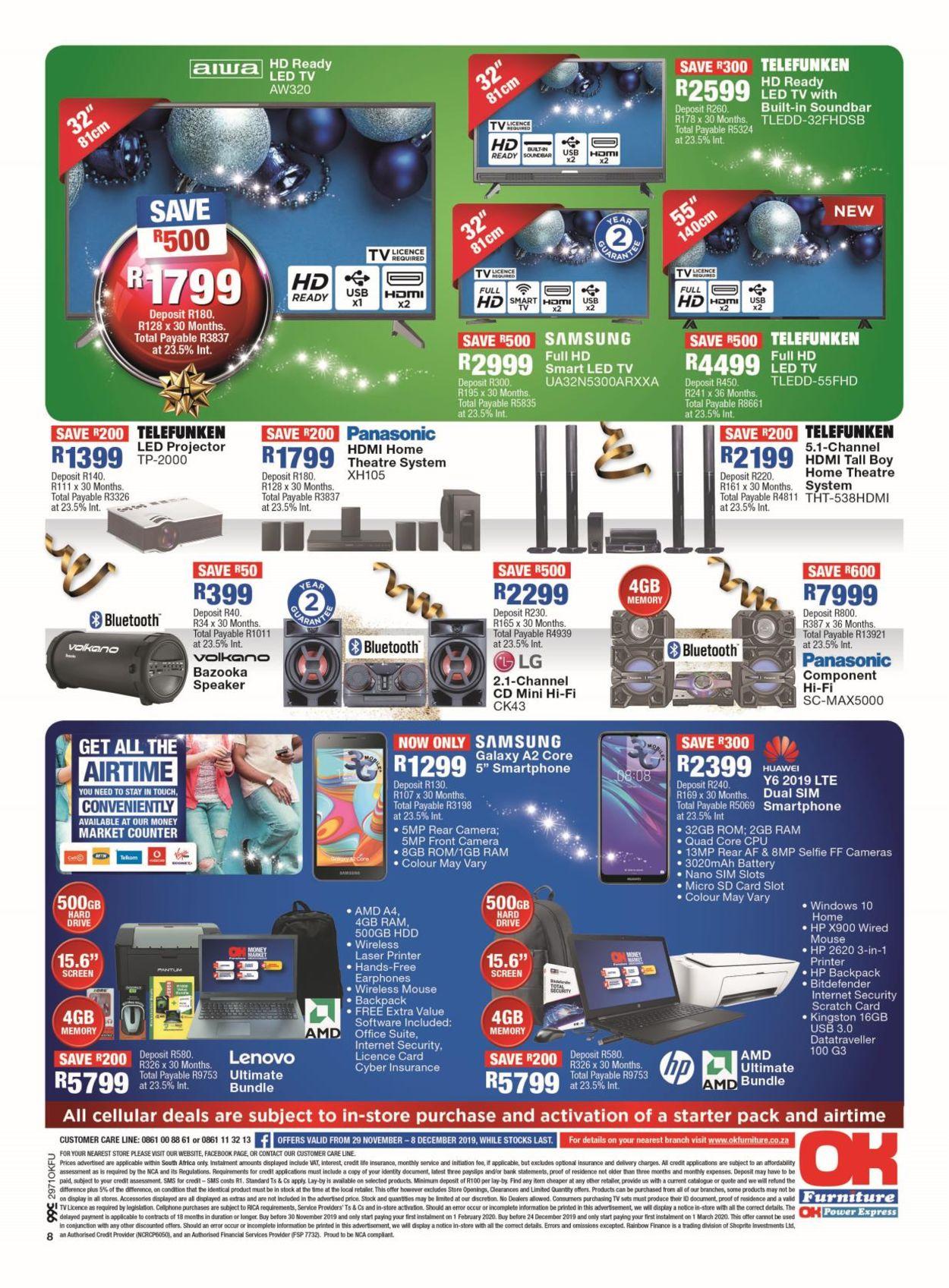 OK Furniture Christmas Catalogue 2019 Catalogue - 2019/11/29-2019/12/08 (Page 4)