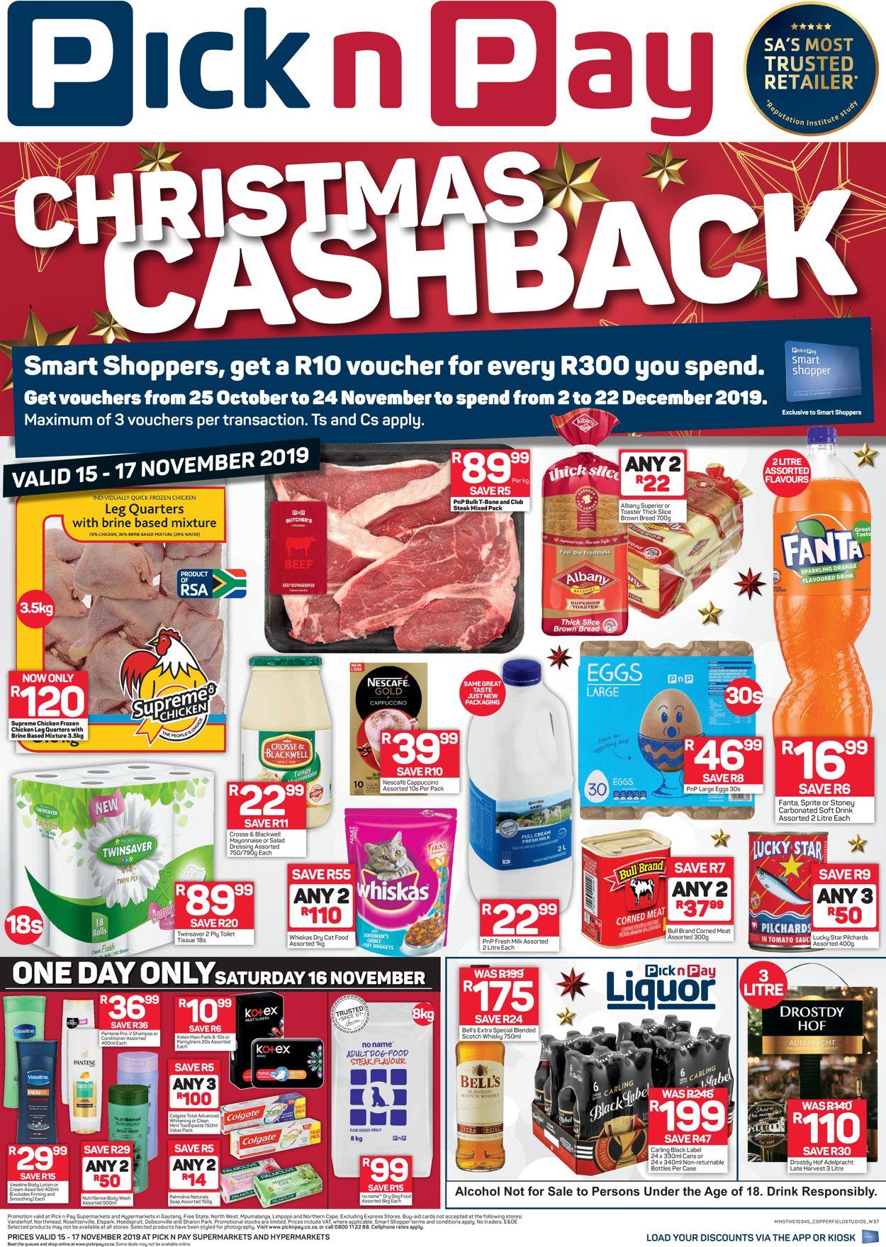 Pick n Pay Catalogue - 2019/11/15-2019/11/17