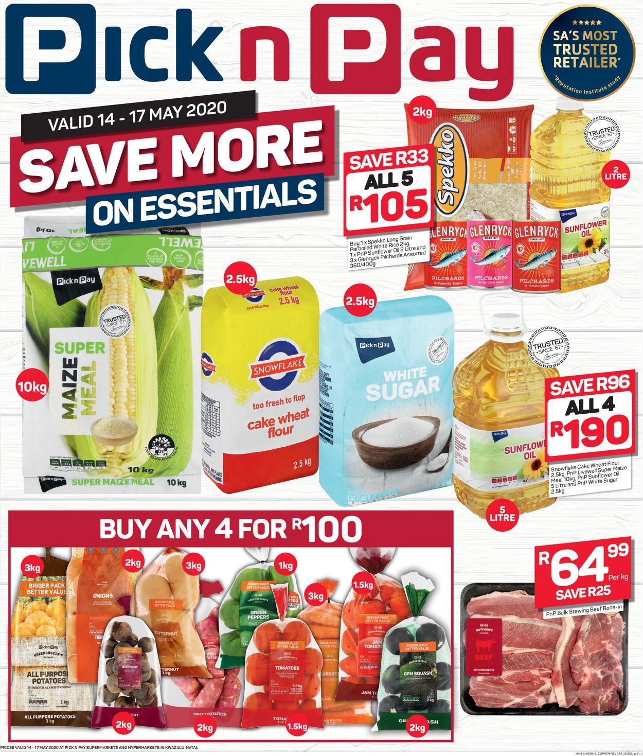 Pick n Pay Catalogue - 2020/05/14-2020/05/17
