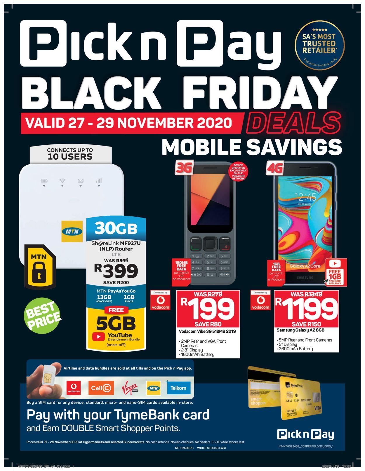 Pick n Pay Black Friday 2020 Catalogue - 2020/11/27-2020/11/29