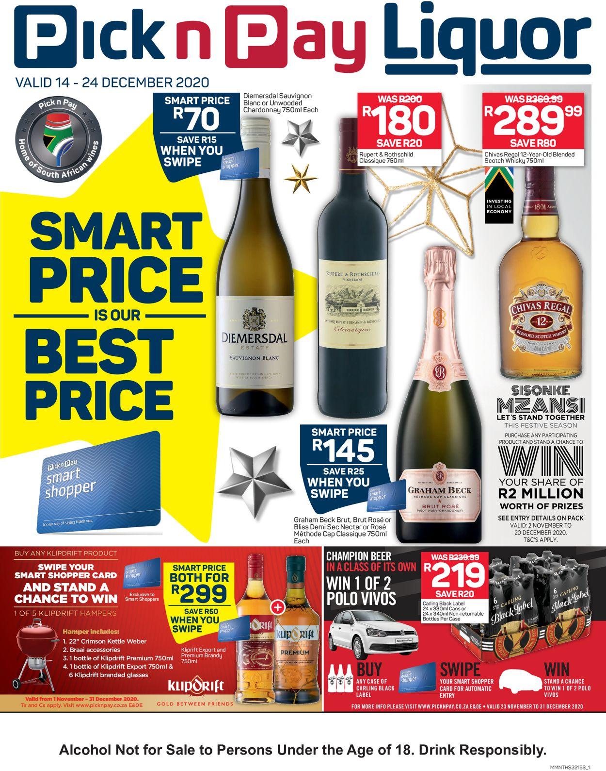 Pick n Pay Liquor 2020 Catalogue - 2020/12/14-2020/12/24