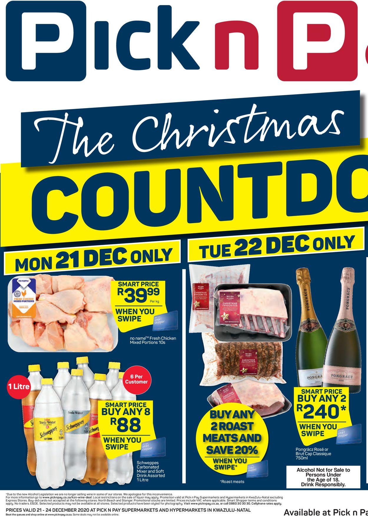 Pick n Pay Christmas Countdown 2020 Catalogue - 2020/12/21-2020/12/27