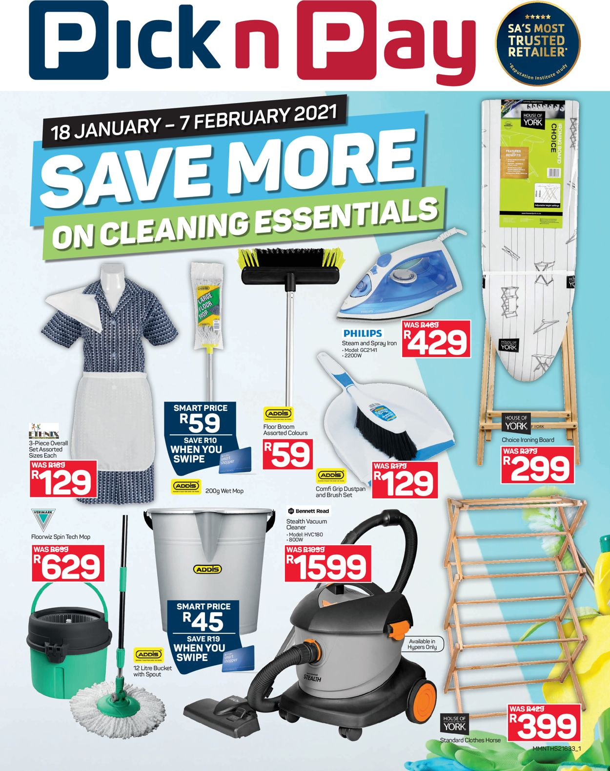 Pick n Pay Save More in Cleaning Essentials 2021 Catalogue - 2021/01/18-2021/02/07
