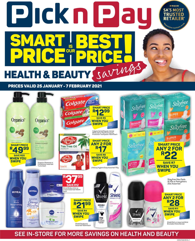 Pick n Pay Savings on Health and Beauty 2021 Catalogue - 2021/01/25-2021/02/07