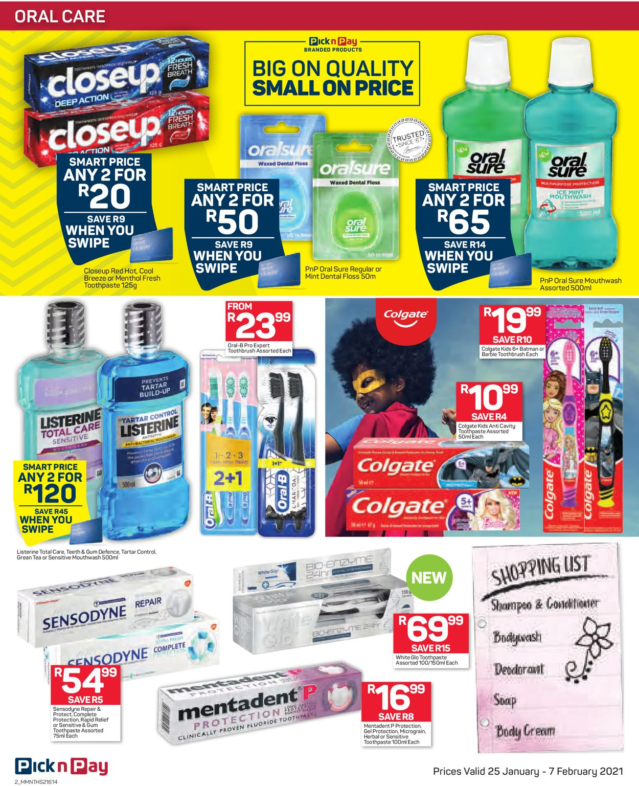Pick n Pay Savings on Health and Beauty 2021 Catalogue - 2021/01/25-2021/02/07 (Page 2)