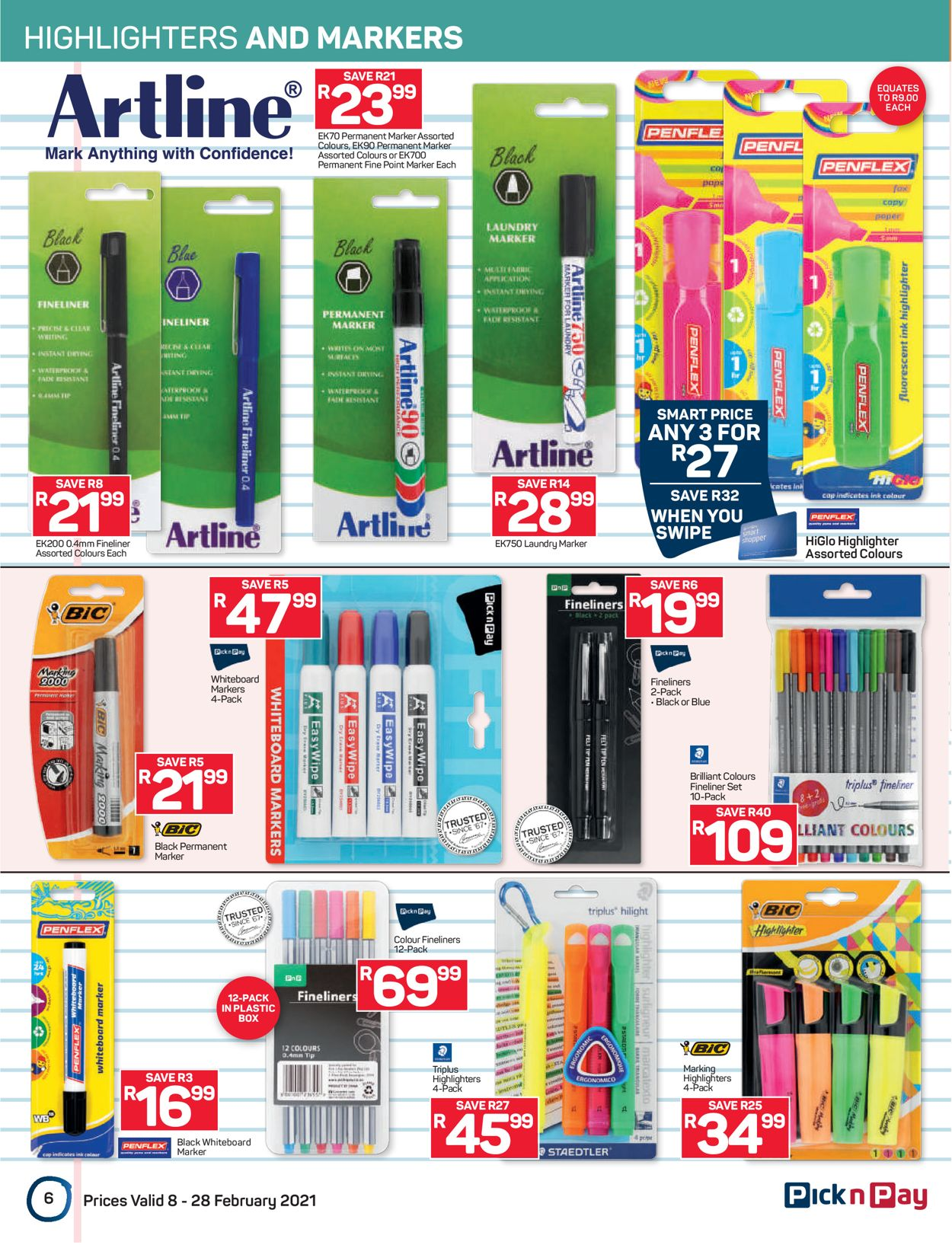 Pick n Pay Back to School 2021 Catalogue - 2021/02/08-2021/02/28 (Page 6)