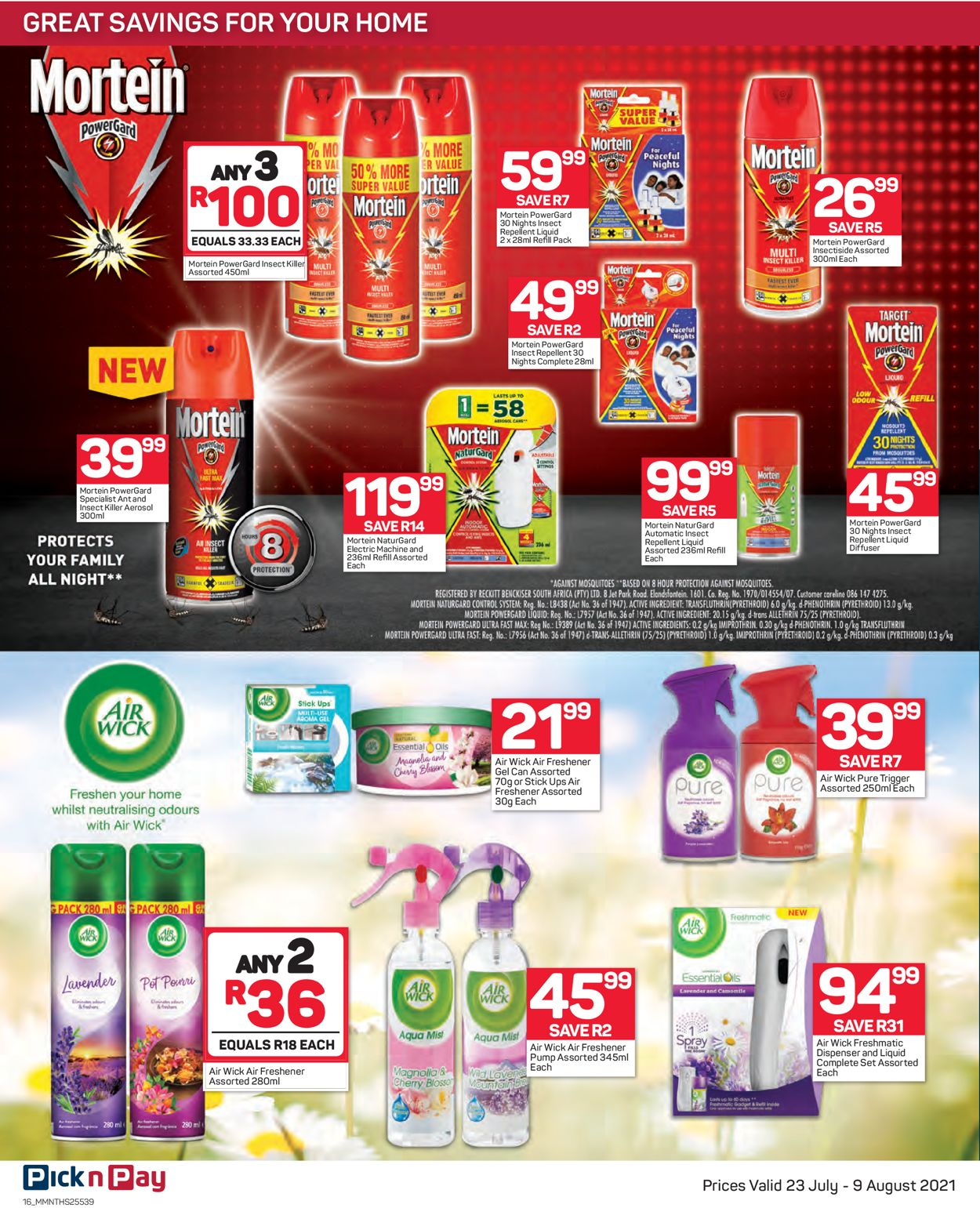 Pick n Pay Catalogue - 2021/07/23-2021/08/09 (Page 16)