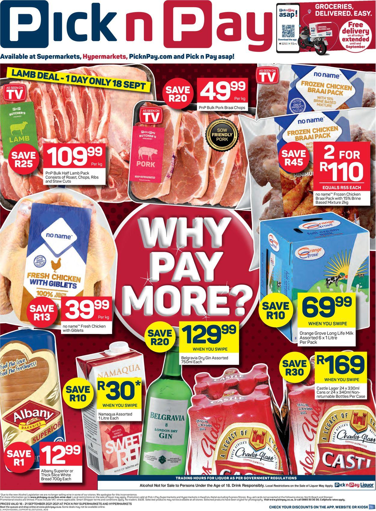 Pick n Pay Catalogue - 2021/09/16-2021/09/21